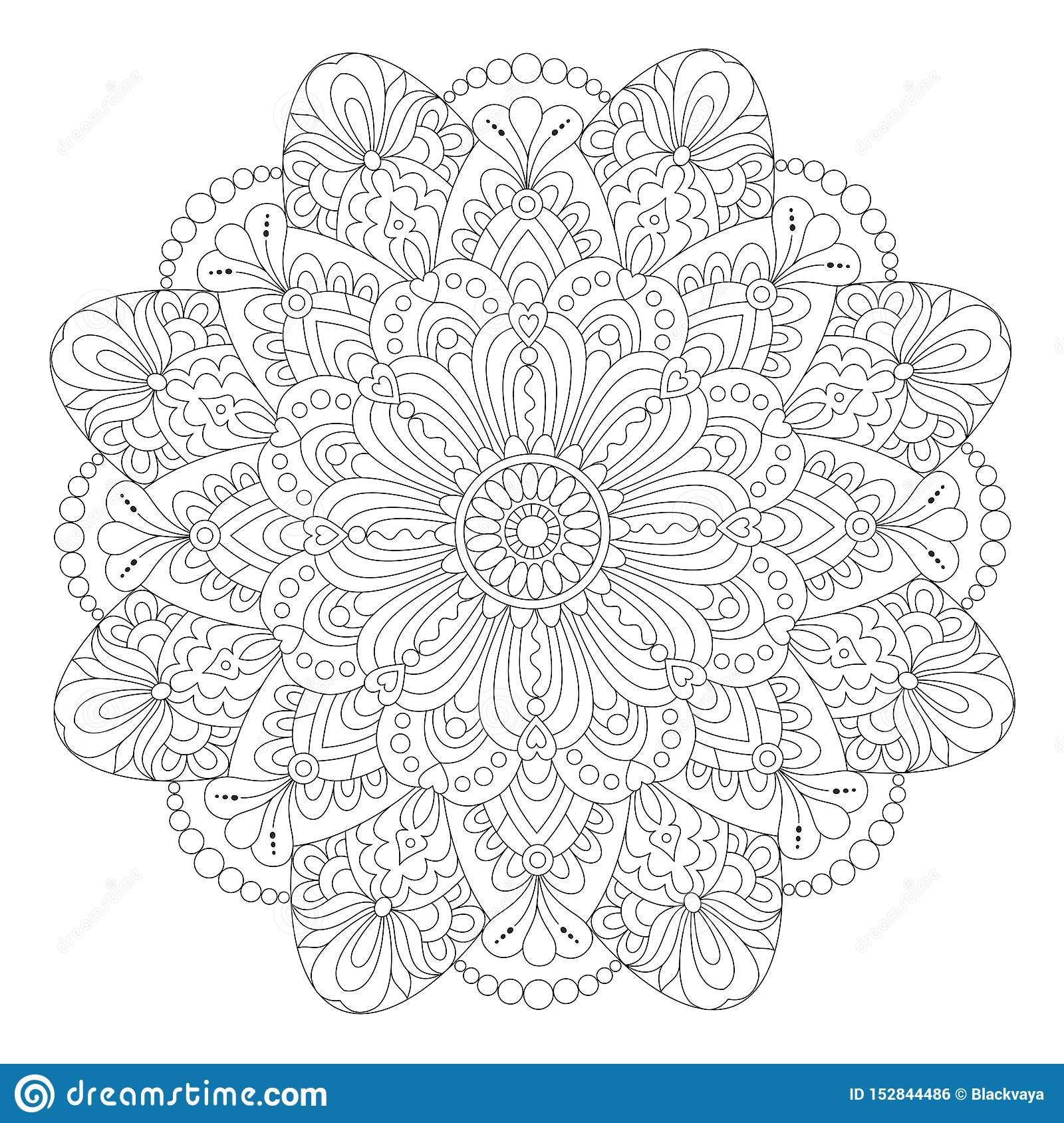 Mandala Coloring Page For Adult, Zentangle Art Pattern