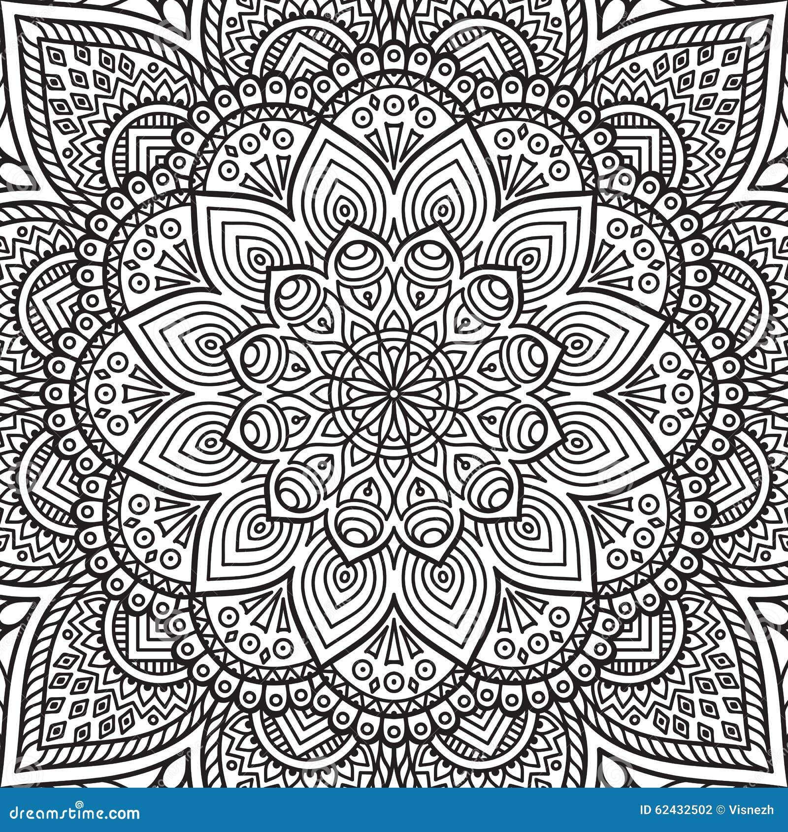 Mandala Coloring Page Stock Vector Illustration Of