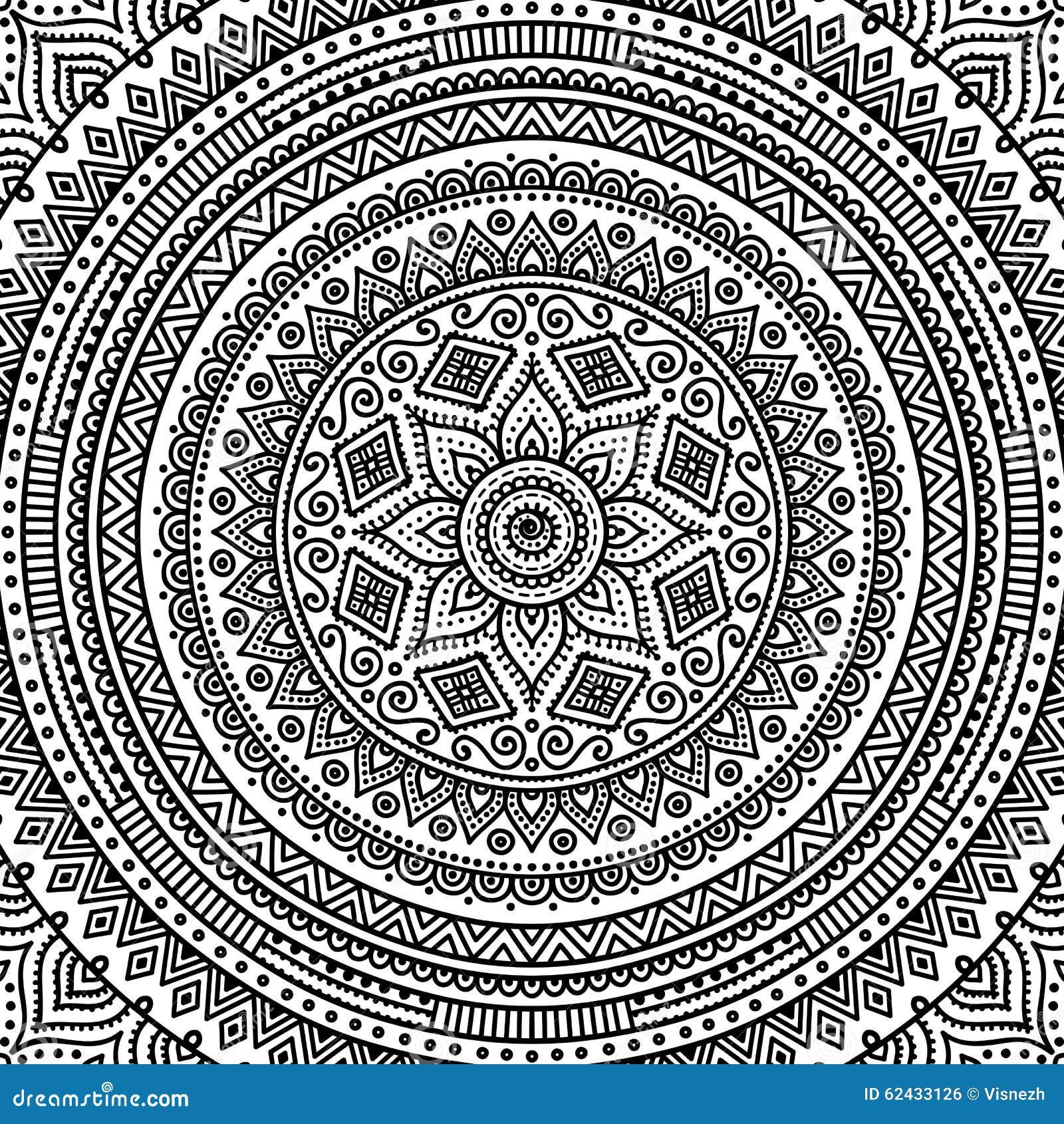 Mandala Coloring page stock vector
