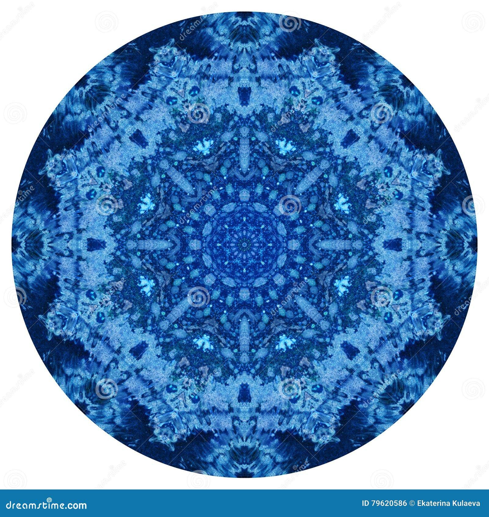 Mandala com textura feito a mão da aquarela da arte