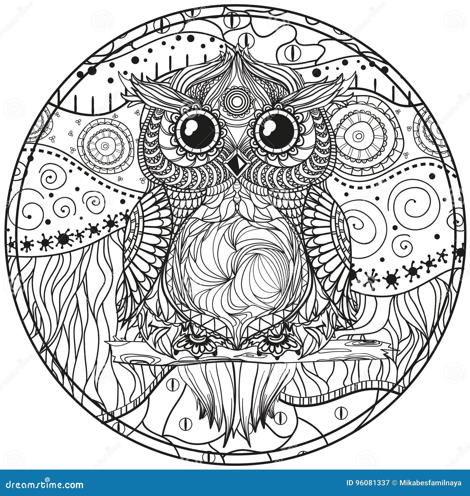 Mandala con el búho