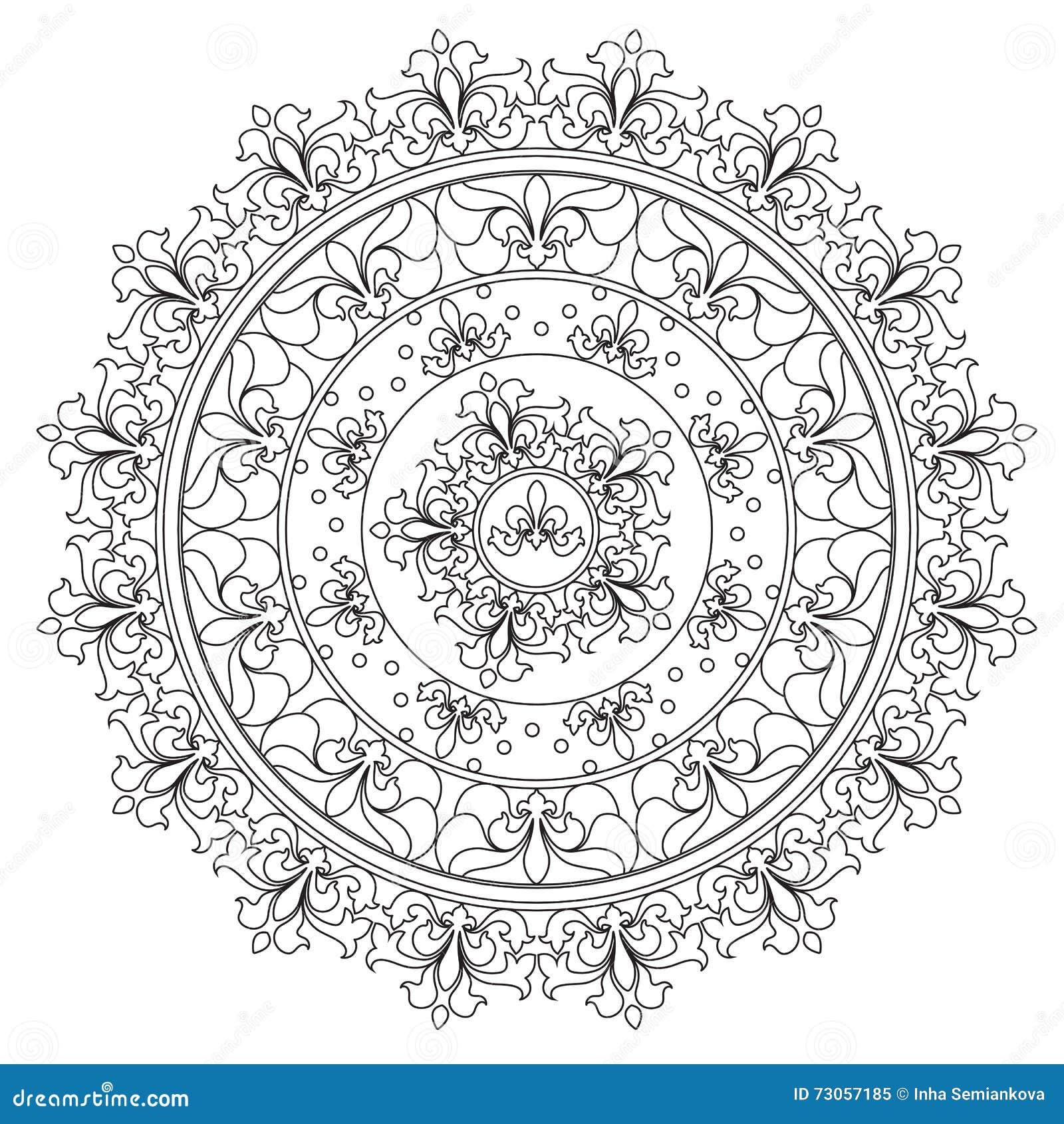 Mandala d annata di astrazione di coloritura