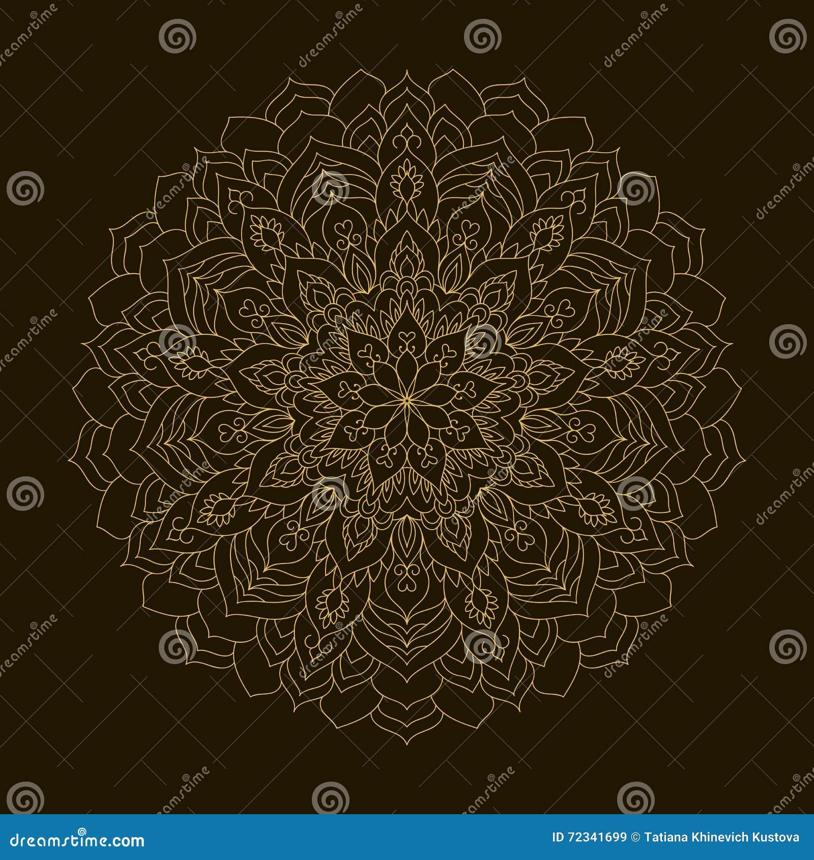 Mandala d or Ornement de circulaire de calibre
