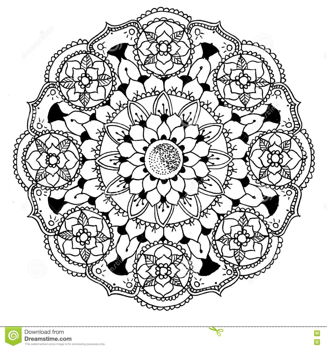 Mandala Da Colorare Illustrazione Di Stock Illustrazione Di Mandala