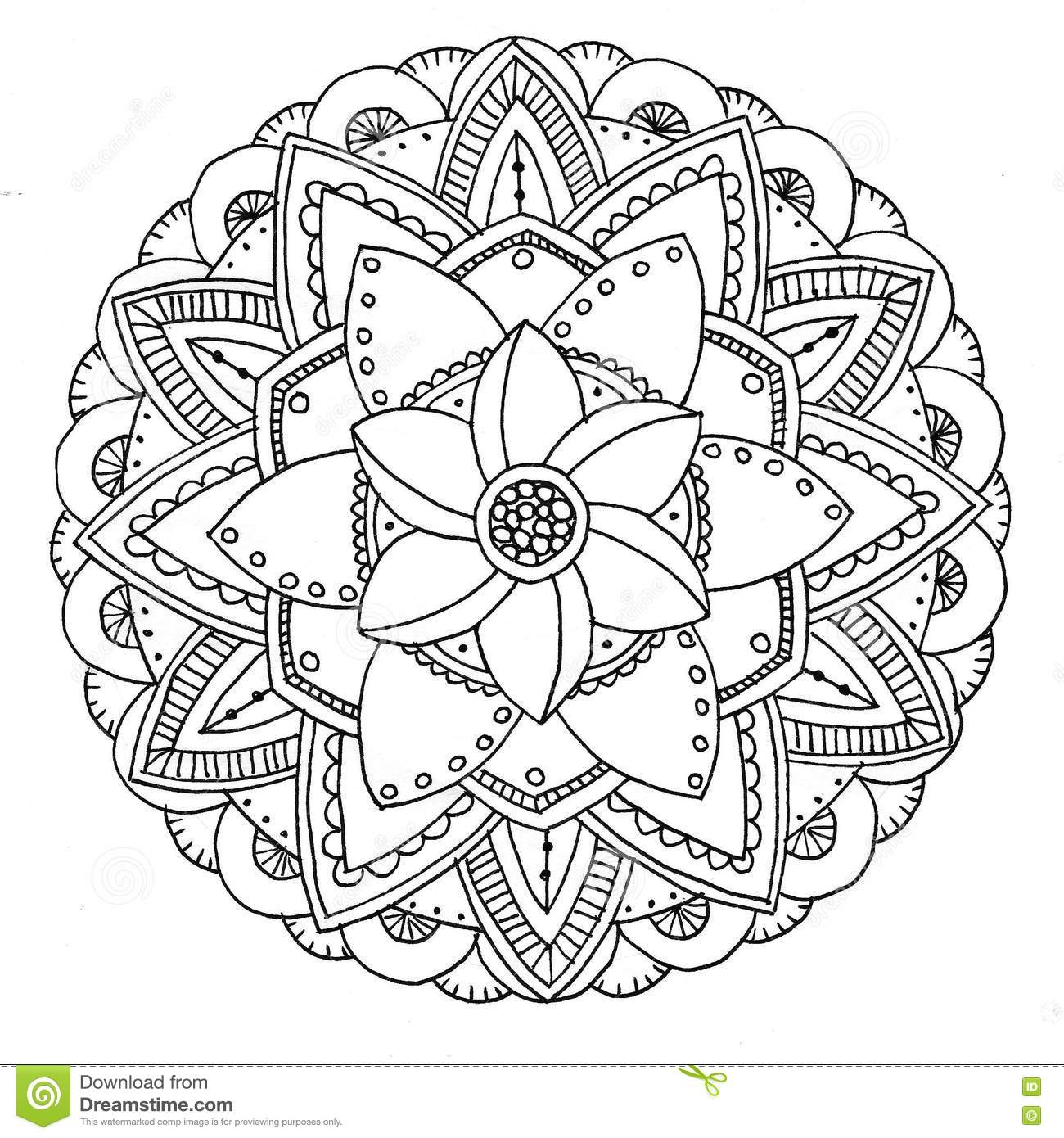 Mandala Da Colorare Illustrazione Di Stock Illustrazione Di