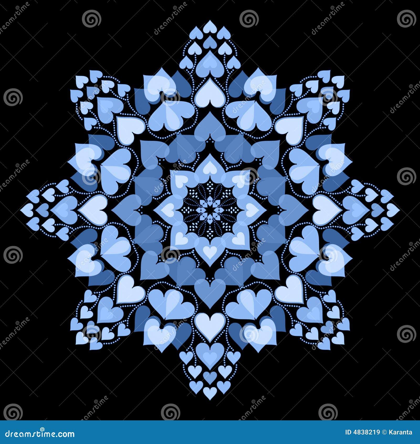 Mandala de coeur illustration stock illustration du fleur 4838219 - Mandala de coeur ...