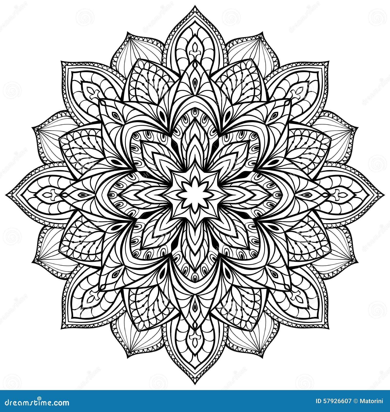 Mandala De Graphique De Vecteur Illustration De Vecteur