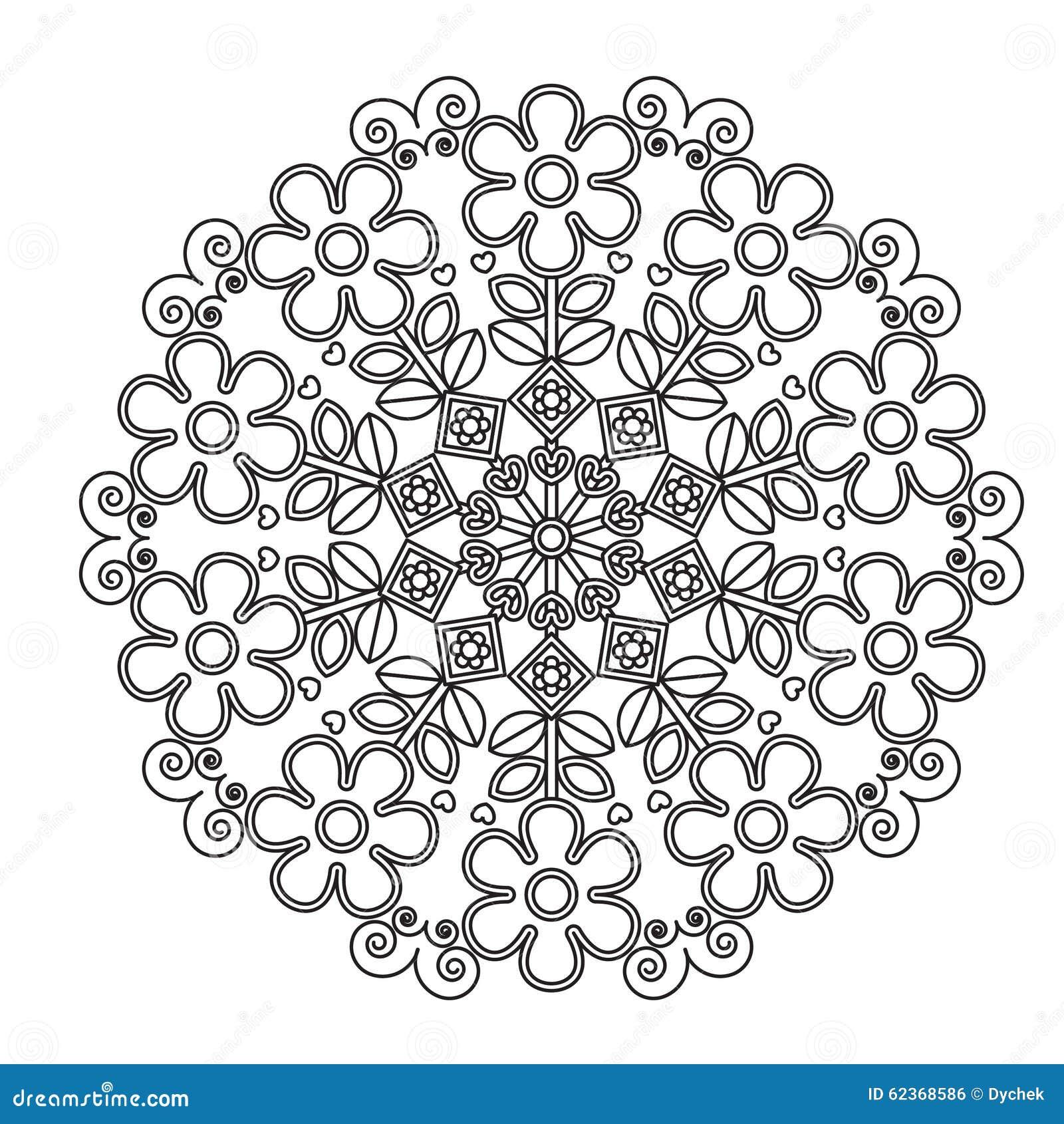 Mandala De Los Niños Para Colorear Ilustración del Vector ...