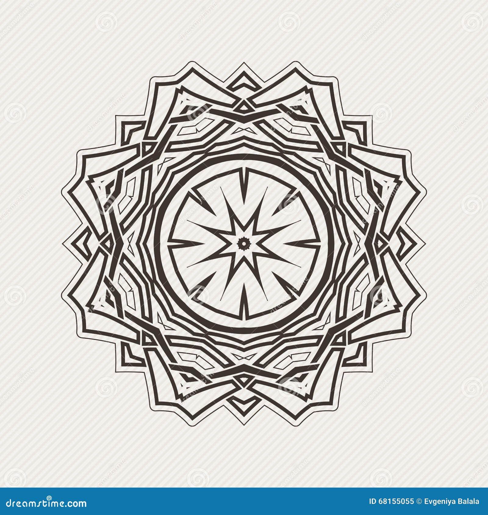 Mandala De Vecteur Tatouage Gothique De Dentelle Armure Celtique