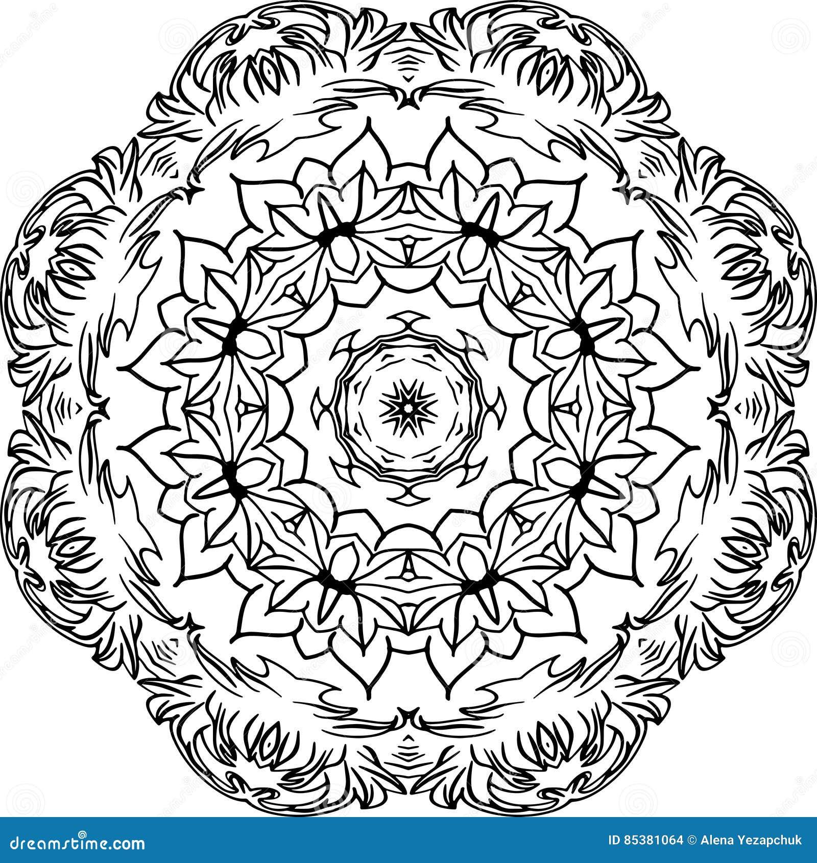 Mandala decorativa do vetor