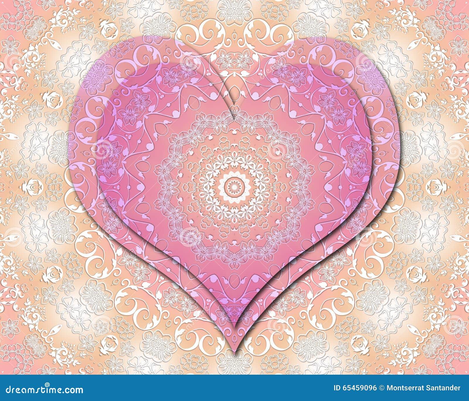 Mandala Del Amor Stock De Ilustración Ilustración De Extracto