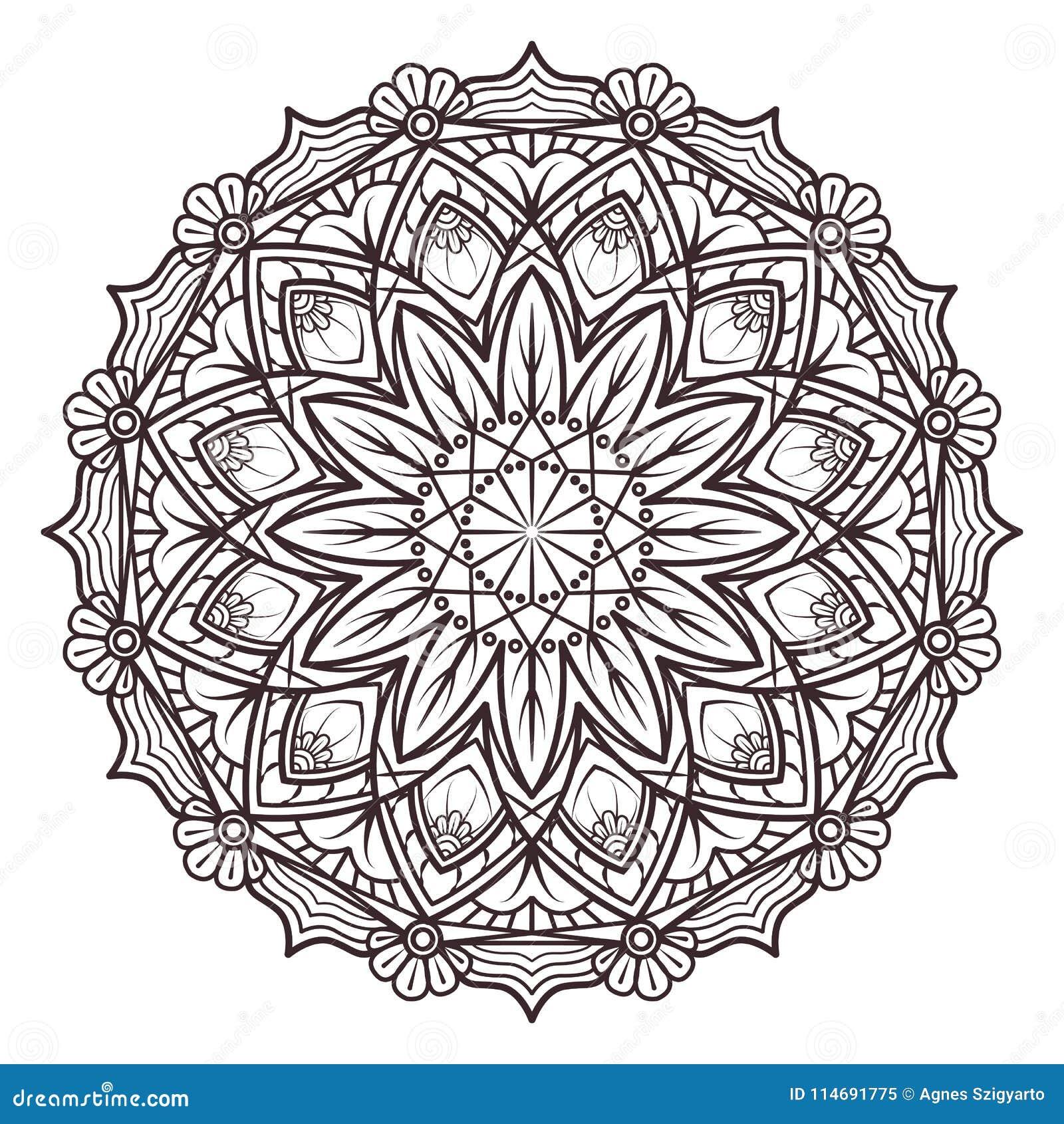 Mandala Designs For Adult Coloring Books, Decorations, Etc ...