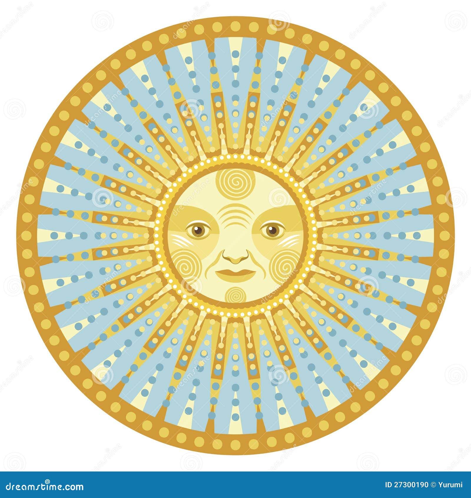 Mandala di luce del giorno illustrazione vettoriale for Case del seminterrato di luce del giorno