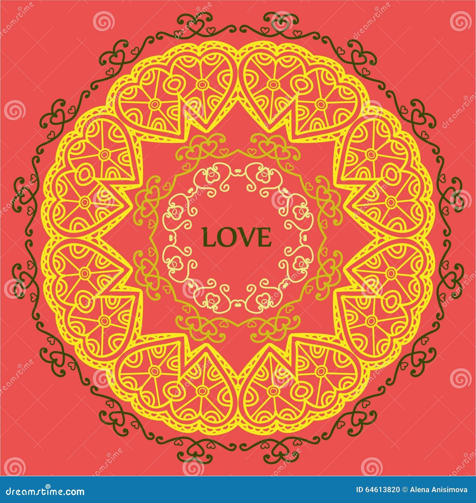 Mandala Di Rilassamento Di Amore E Della Meditazione Modelli Etnici