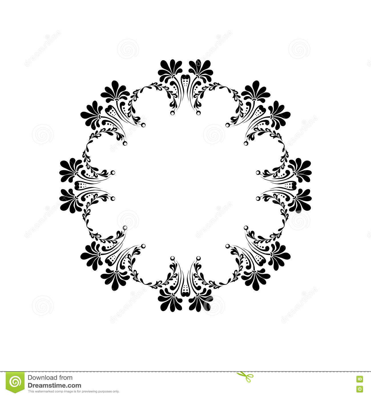 Mandala Element With Flower. Ethnic Ornament Isolated On White, Can ...