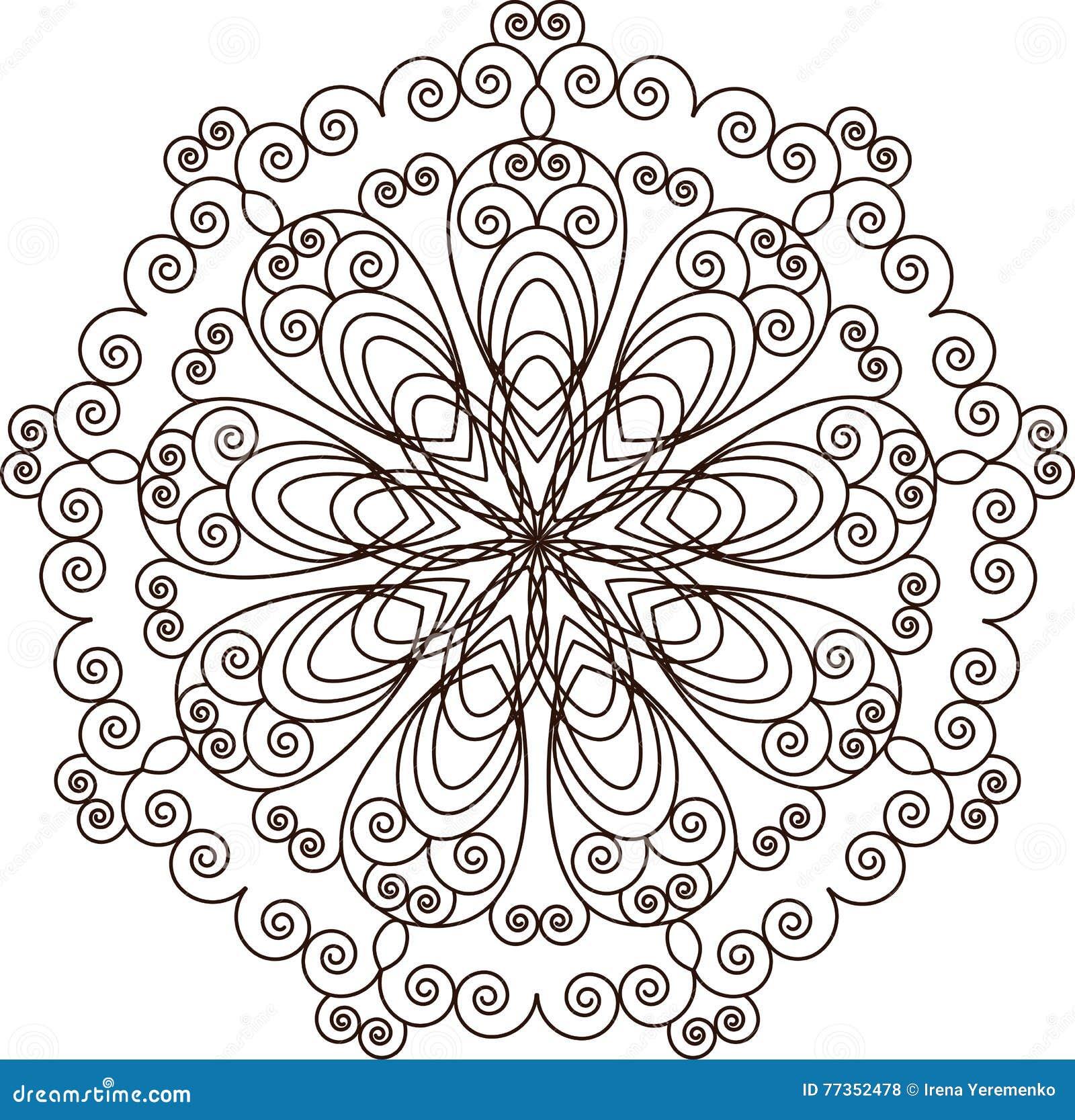 Mandala Elementi decorativi dell annata