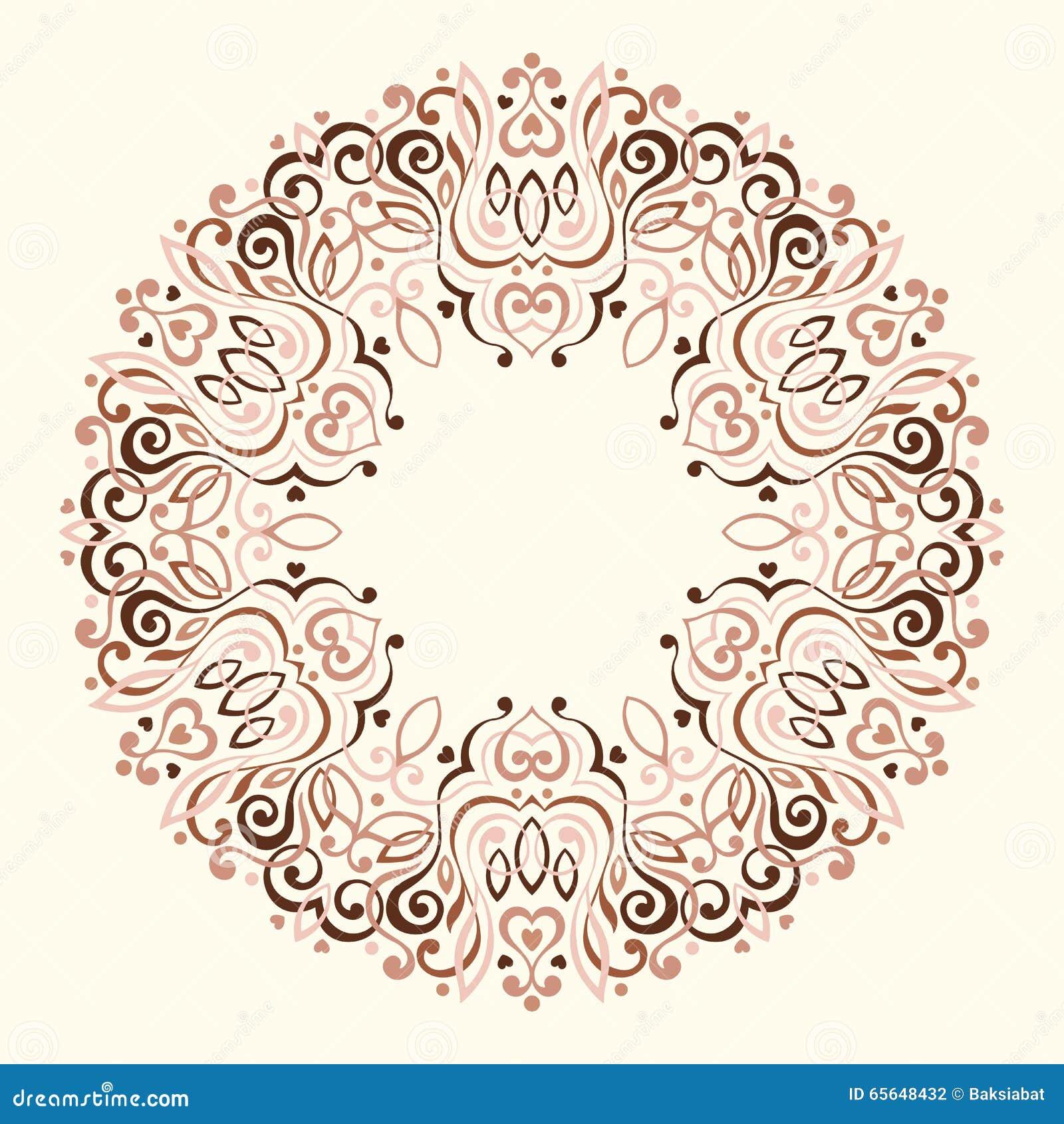 Mandala fleuri abstrait Trame décorative pour la conception