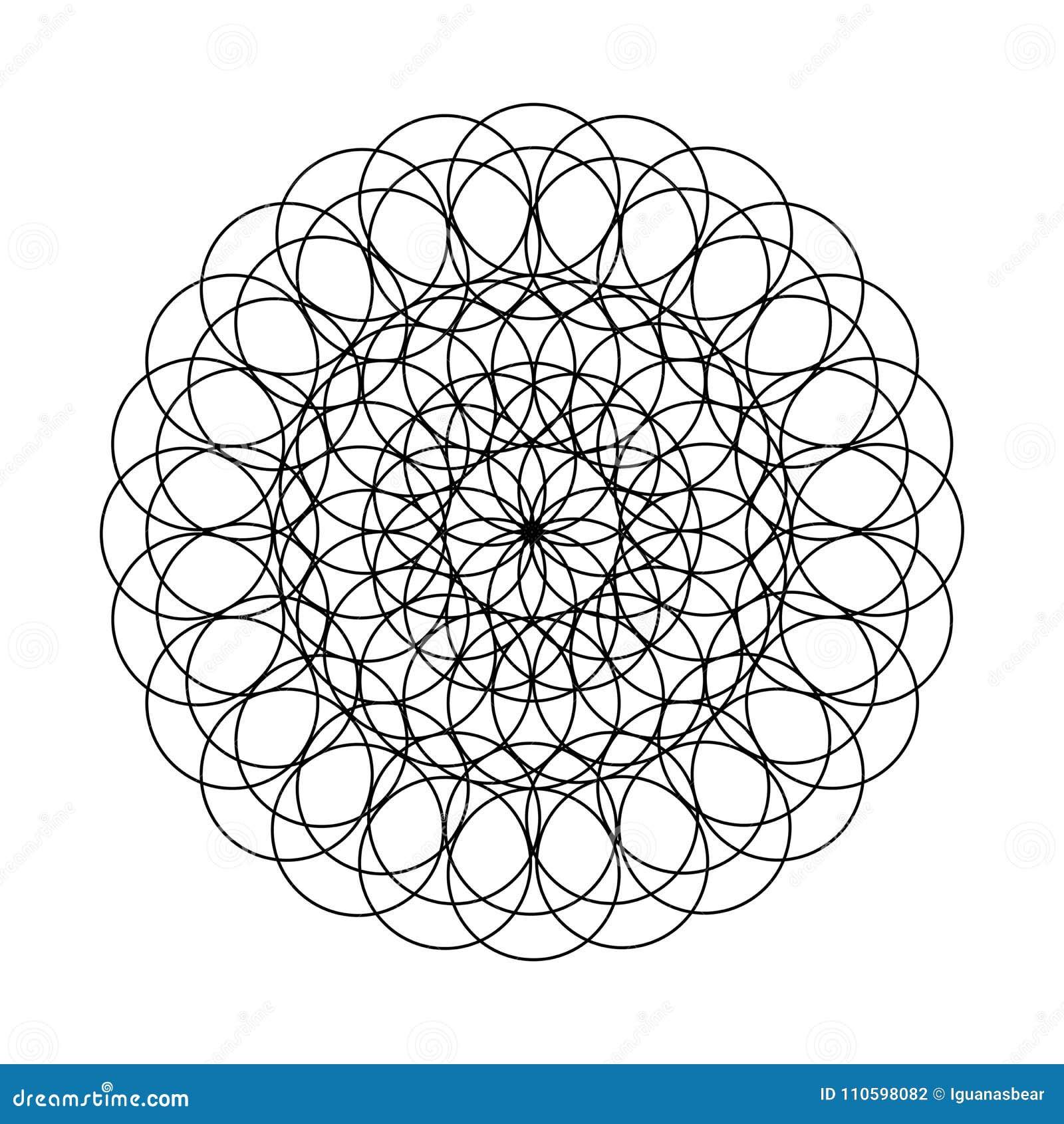 Mandala - Flor De Los Círculos Para El Libro De Colorear Ilustración ...