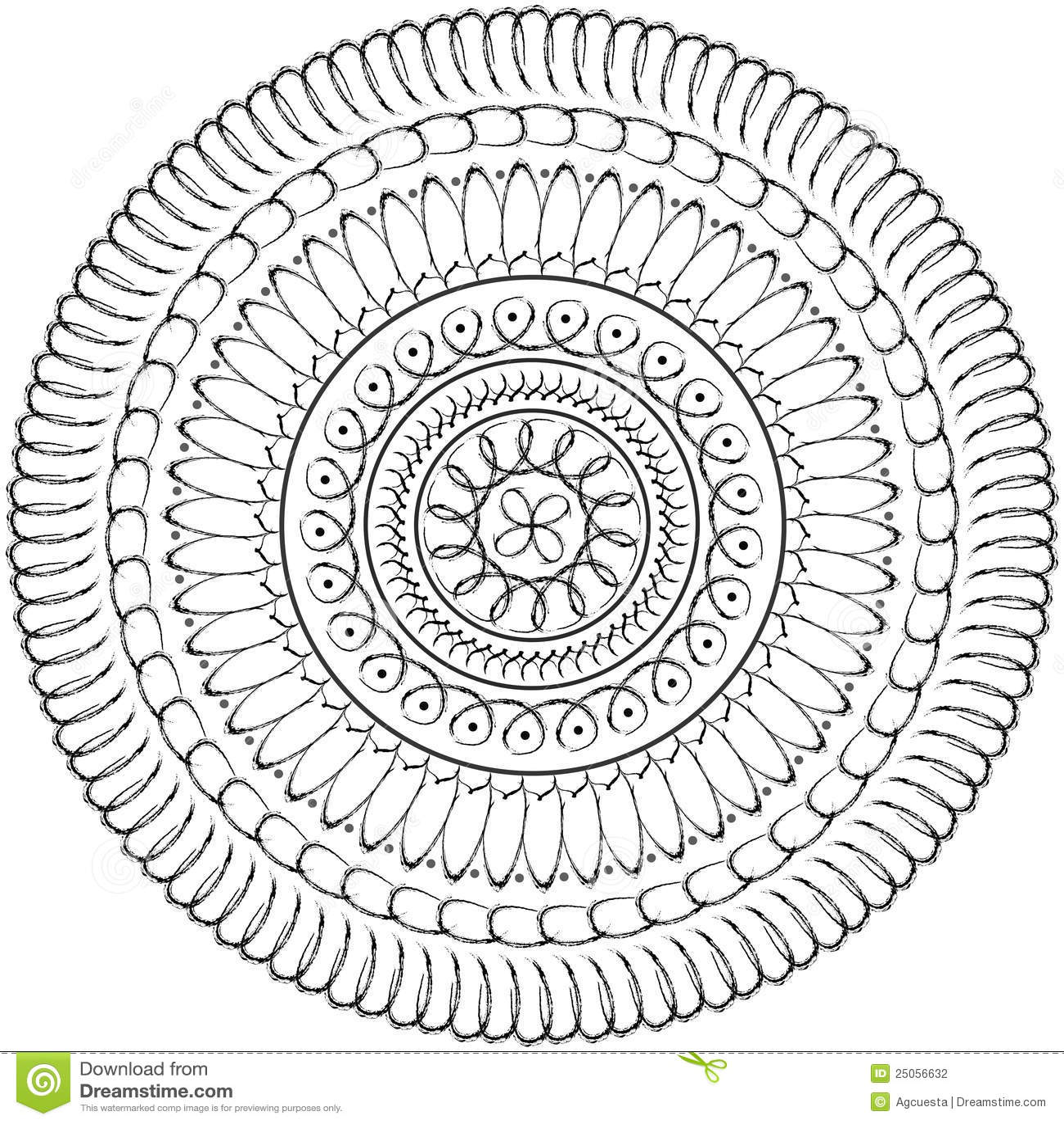 mandala floral gr225fico geom233trico c237rculo sagrado