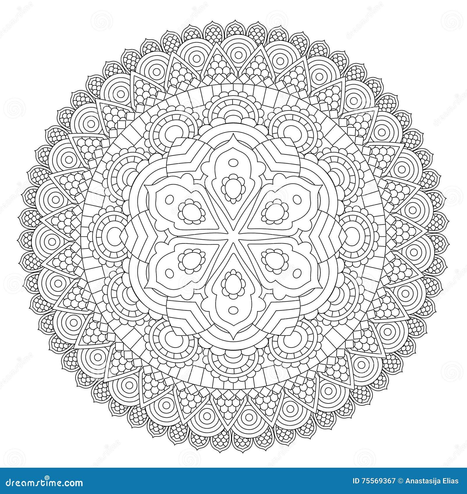Mandala Floral Mandalas Set Coloring Book  Outline   Pattern
