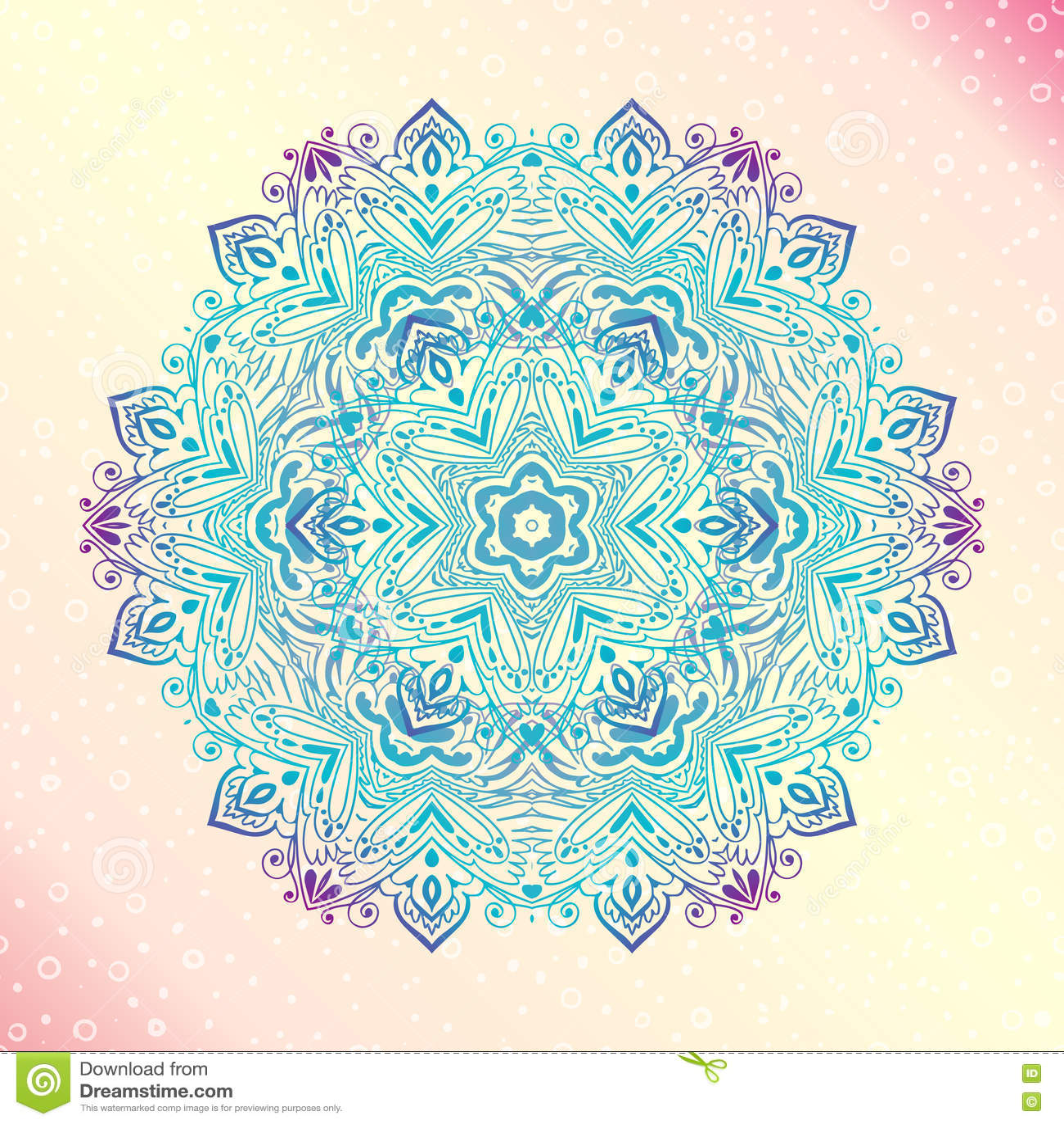 Mandala. Floral Vintage Round Amulet Tattoo Stock Vector ...