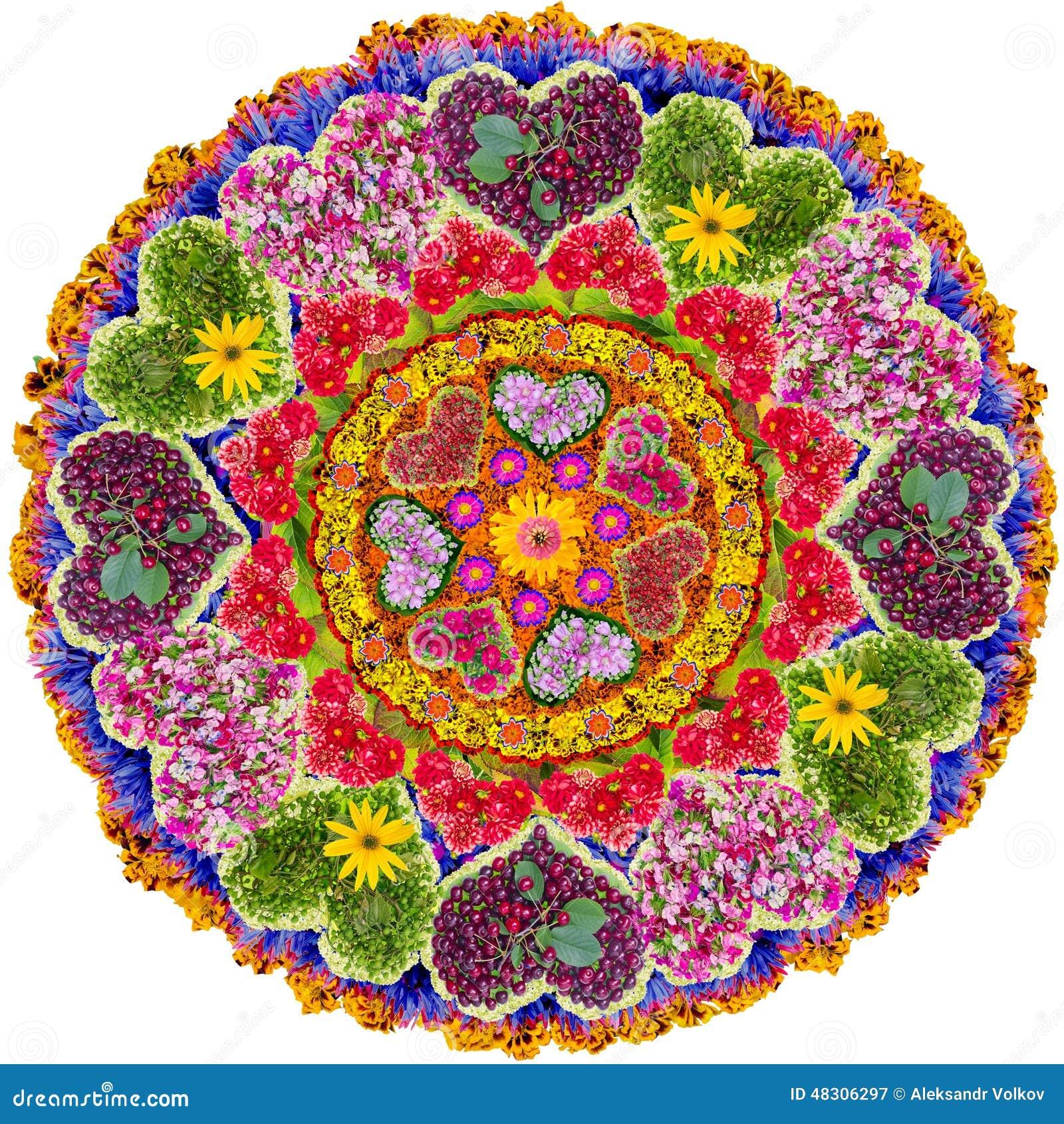Mandala Floreale Isolata Di Amore Immagine Stock Immagine Di