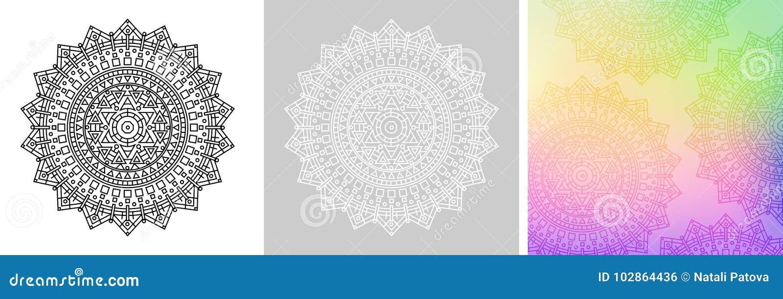 Mandala Geométrica Con La Estrella De David En El Centro Modelo ...