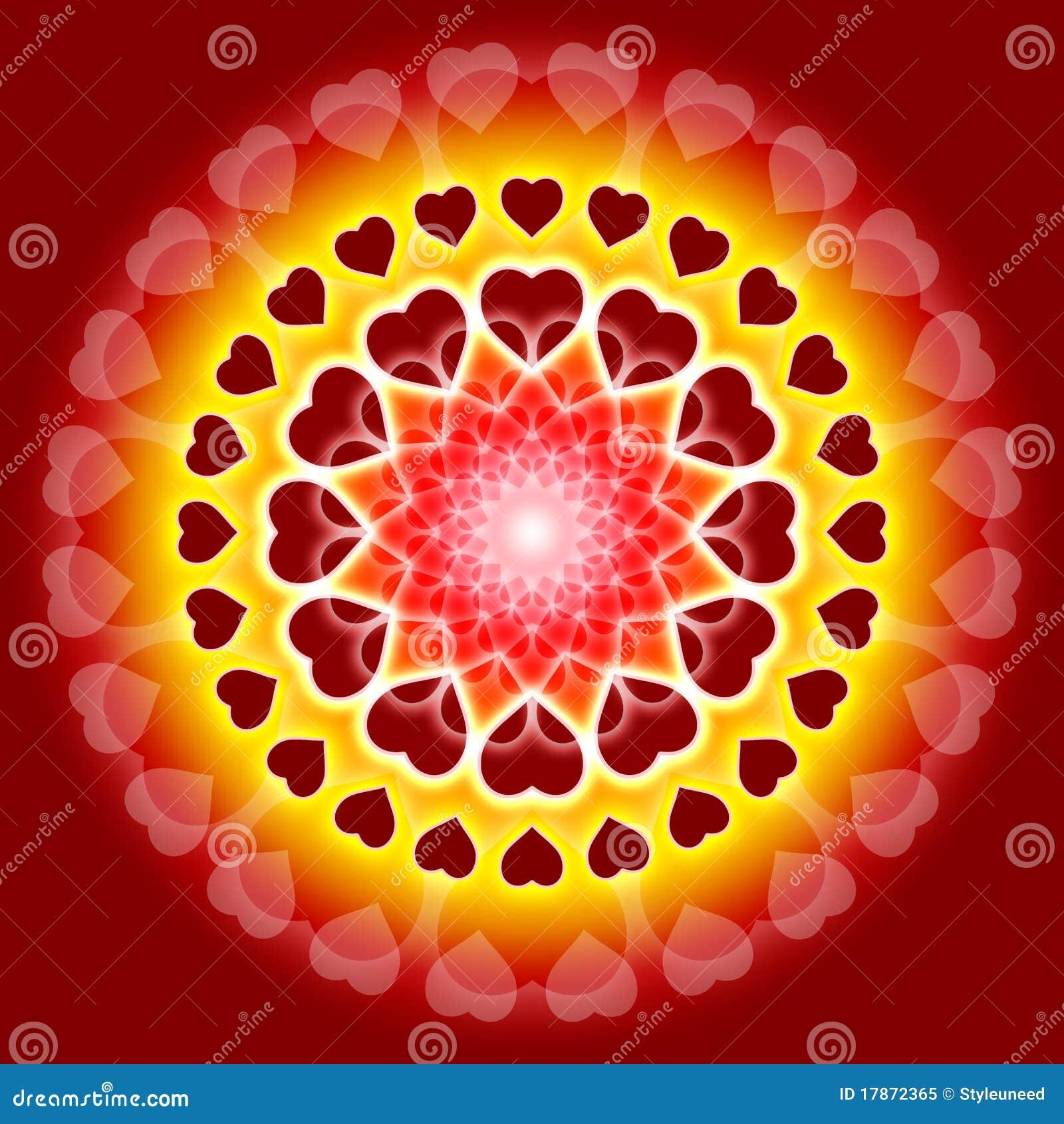 Mandala Globale Di Amore Siamo Una Illustrazione Di Stock