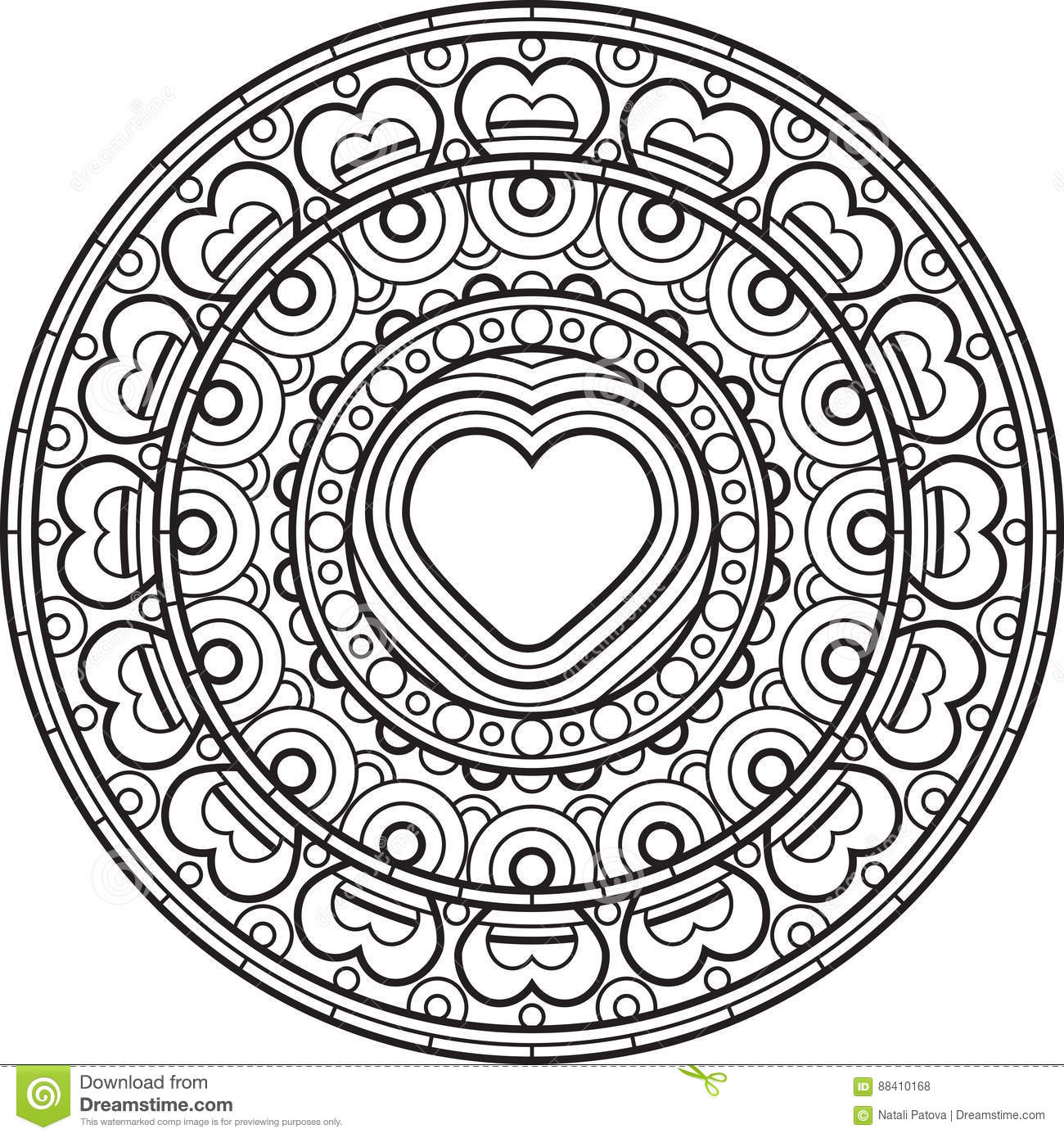 mandala with decorative ornament stock