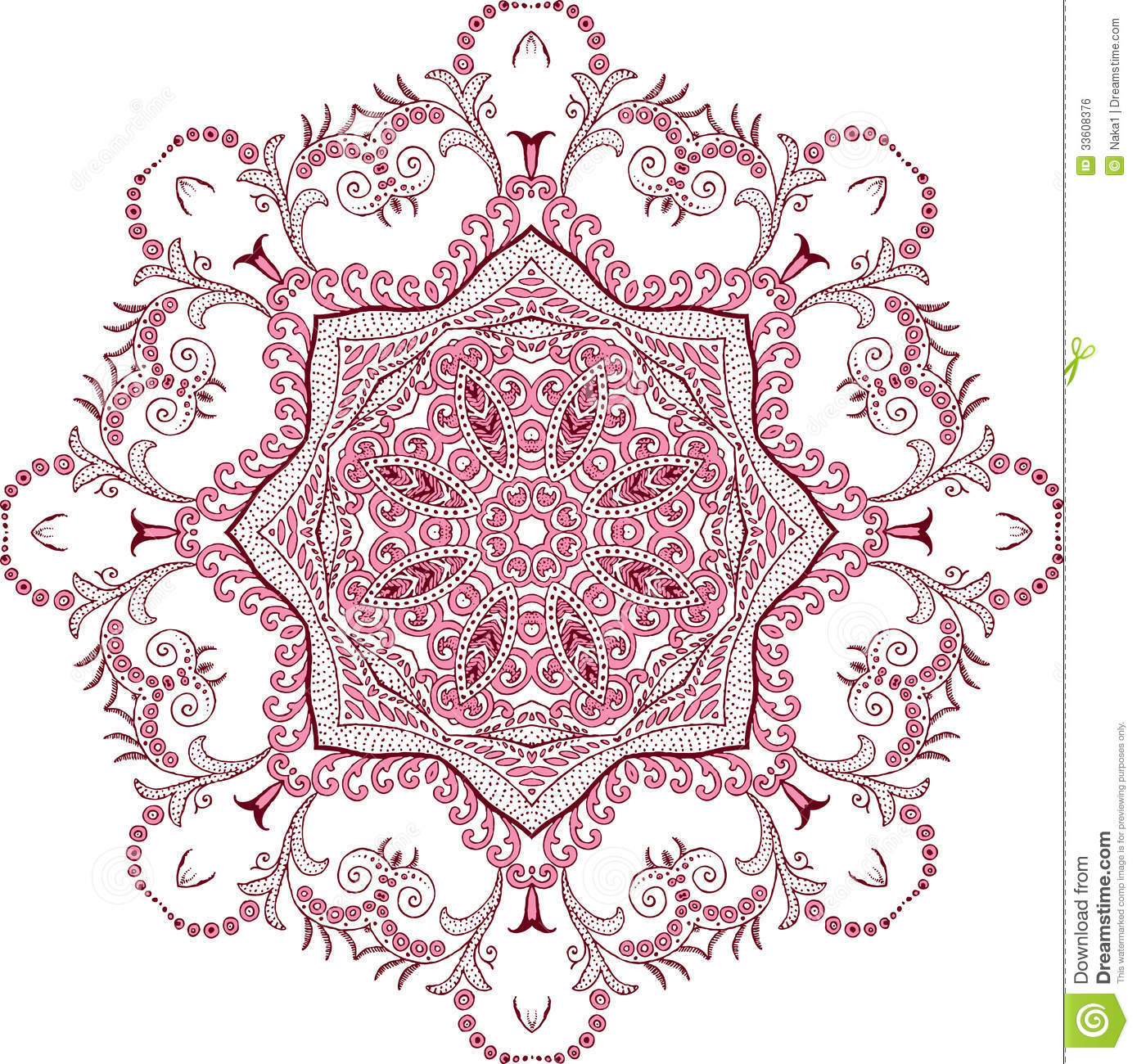 Mandala Henna Design Fashion Illustration 33608376 Megapixl