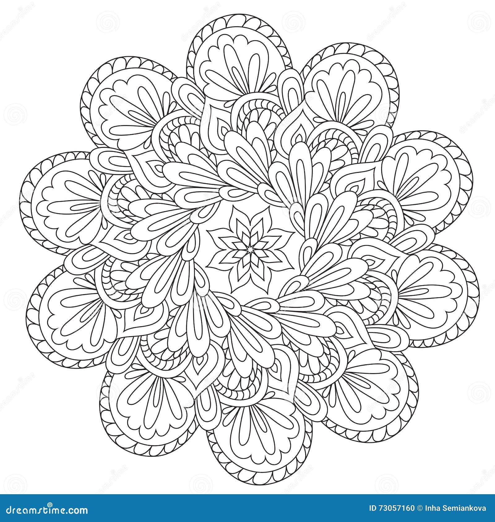 Mandala hermosa de la abstracción que colorea