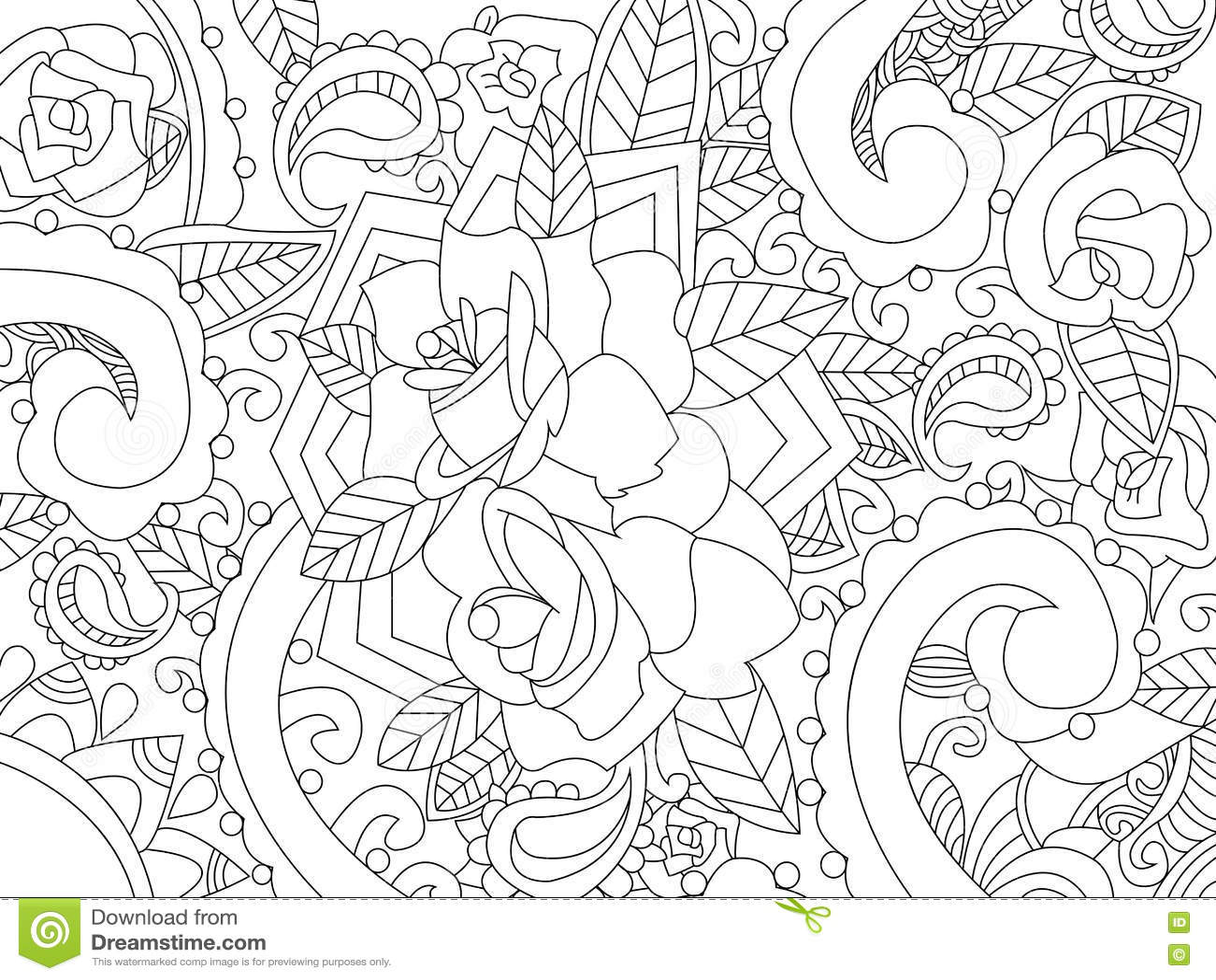 Uitgelezene Mandala Het Kleuren Vector Voor Volwassenen Vector Illustratie DO-16