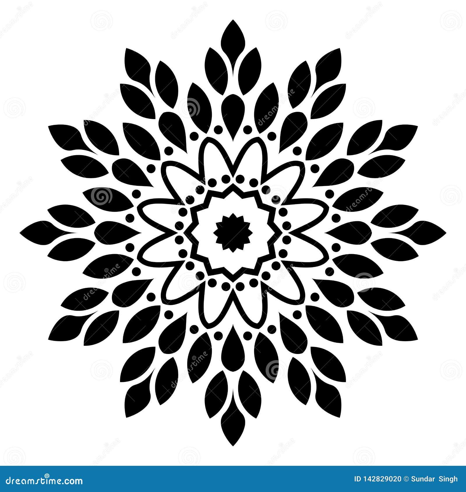Mandala Illustration Swirl, nel fondo bianco