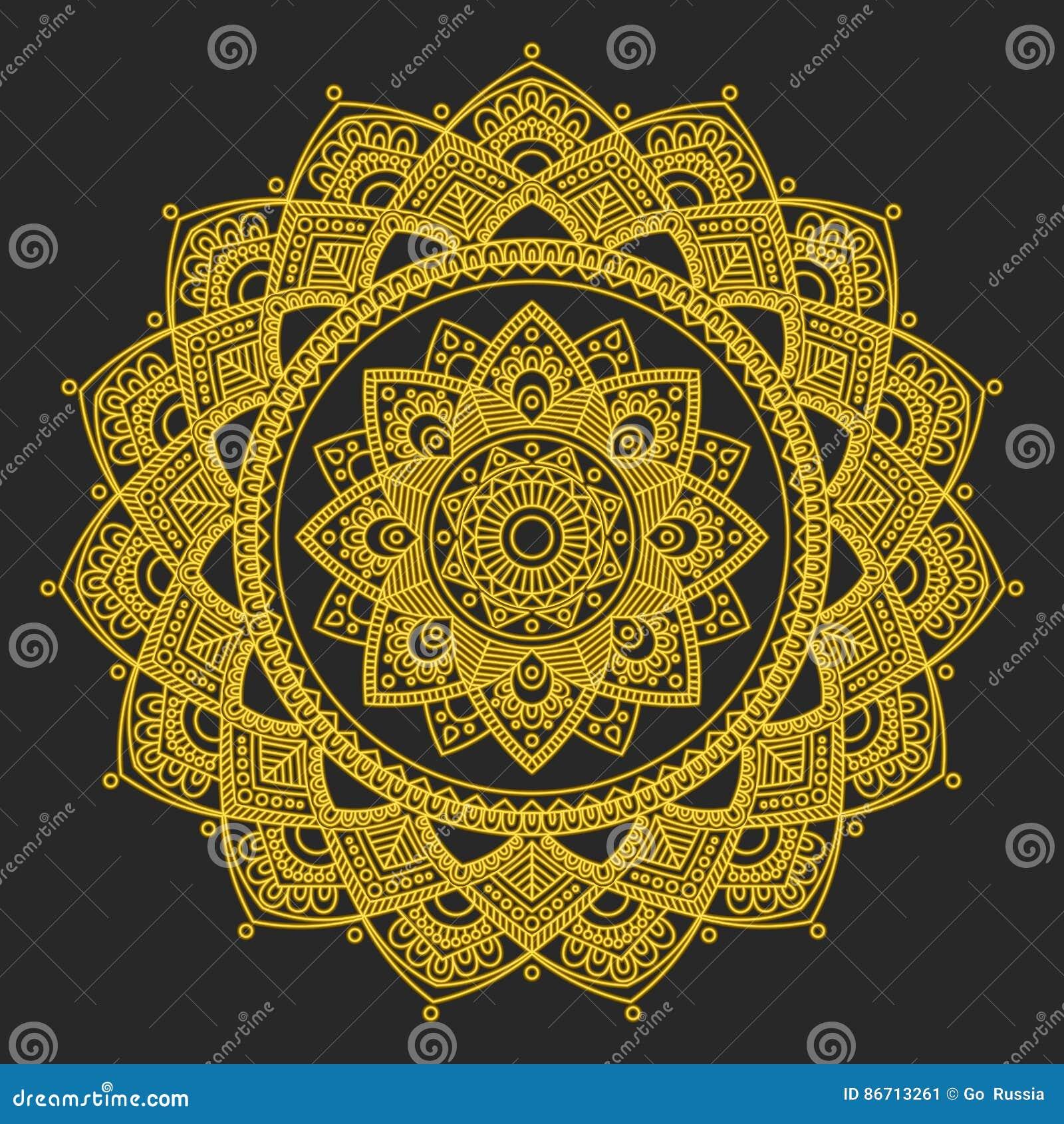 Mandala Indian Antistress Medallion Abstract Islamic