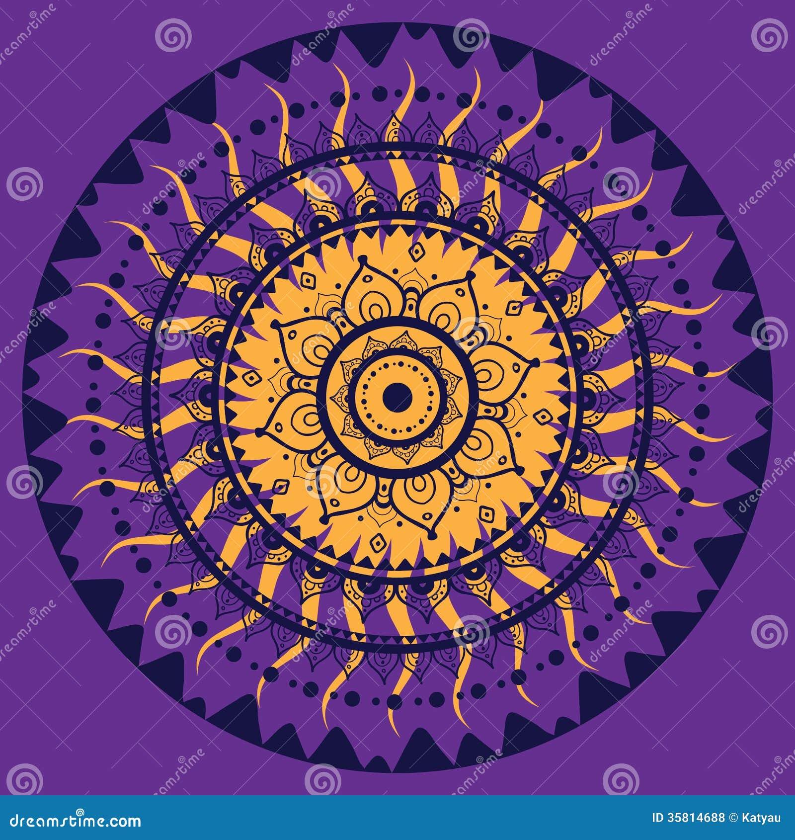 Mandala Indian Decorative Pattern Royalty Free Stock