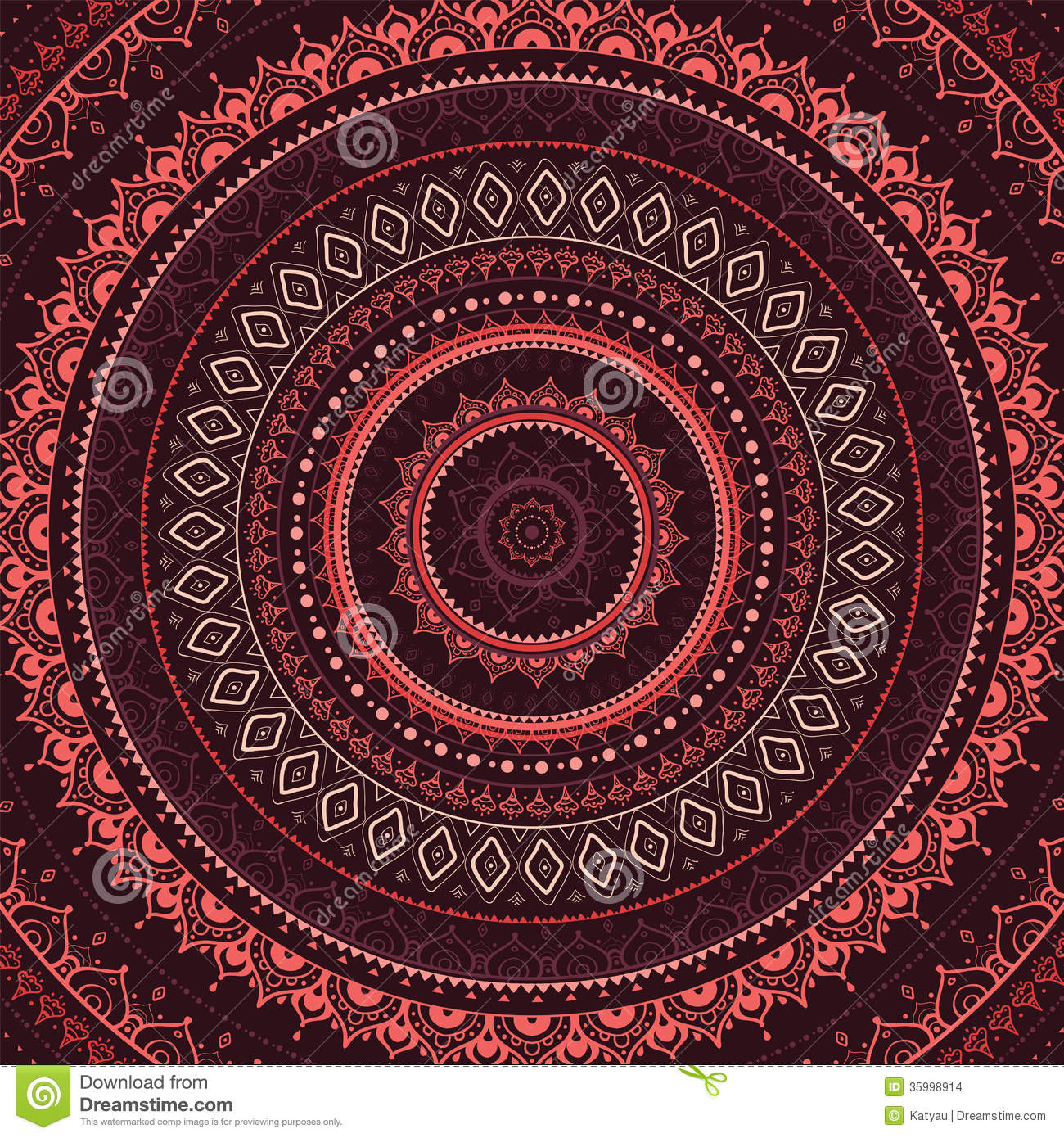 Download Mandala Indian Decorative Pattern Stock Illustration