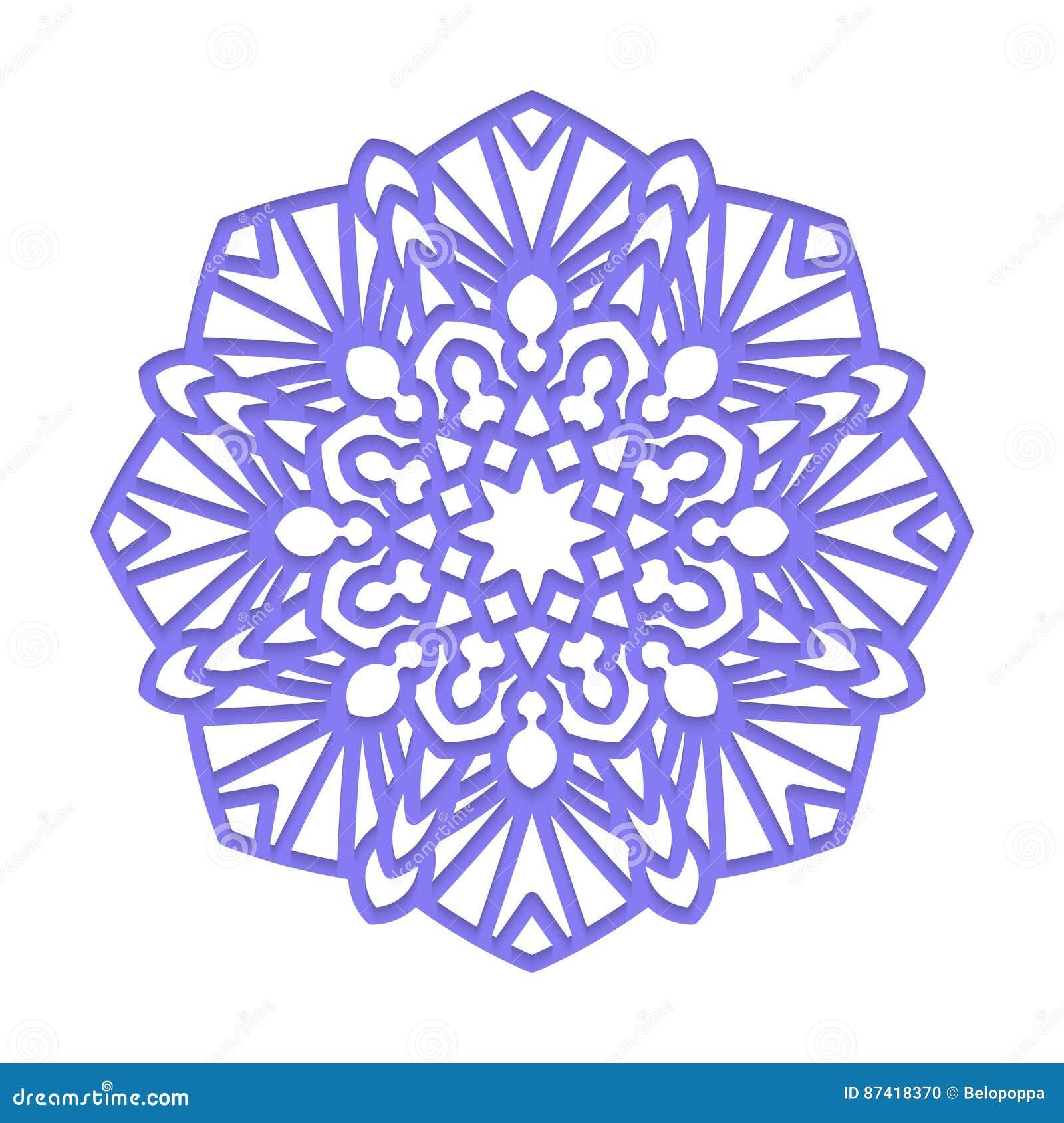 Mandala Indische Hochzeitsmeditation Vektor Abbildung Illustration