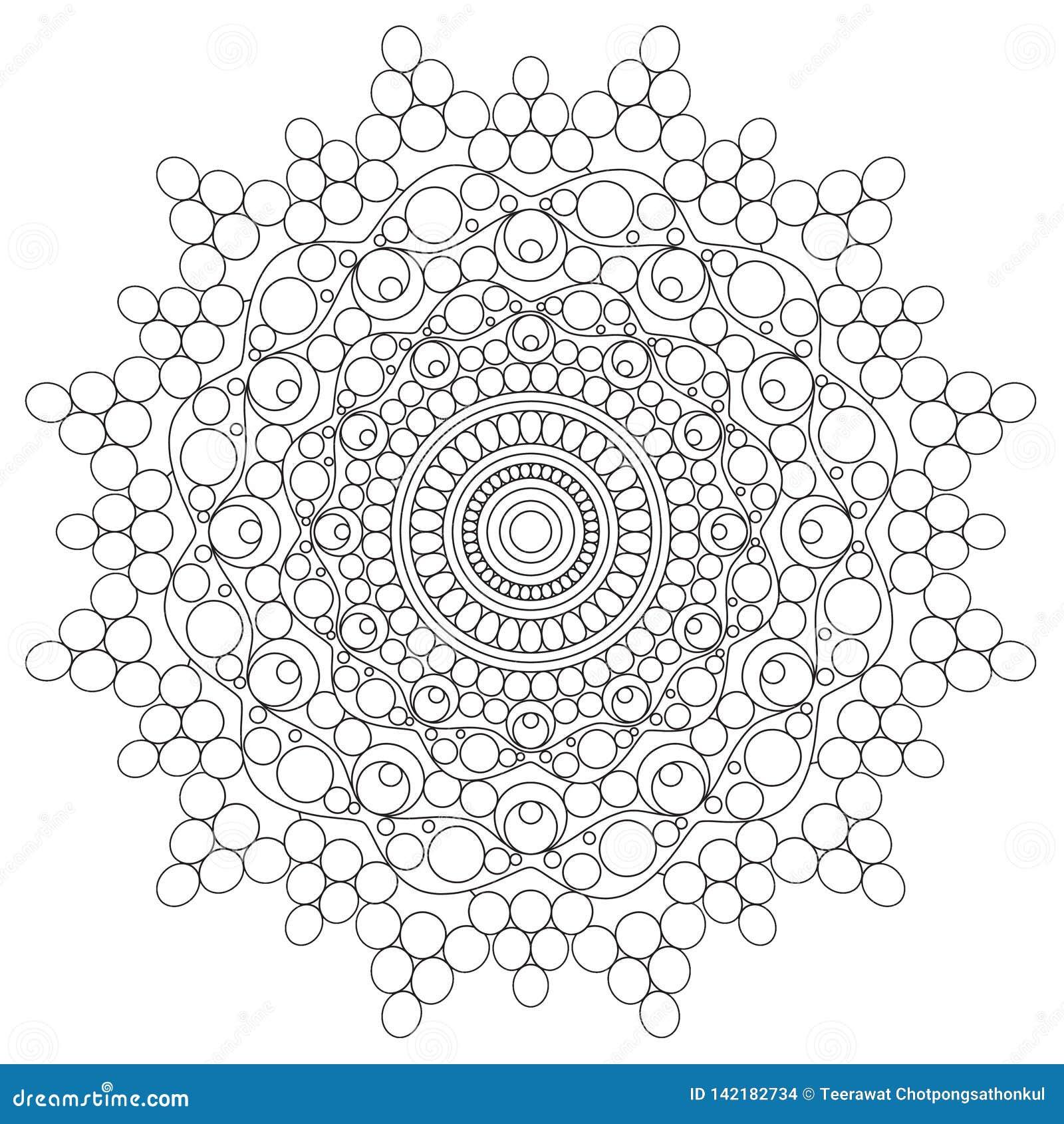 Mandala Intricate Patterns Black en Witte Goede Stemming