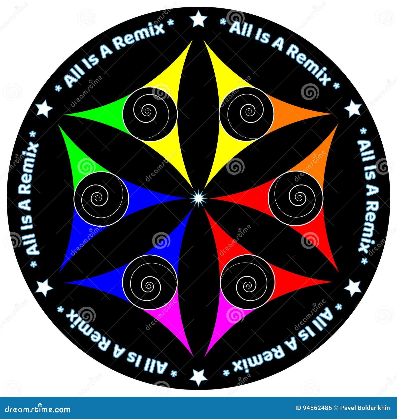 Mandala koloru pokoju miłości wszechrzeczy początek