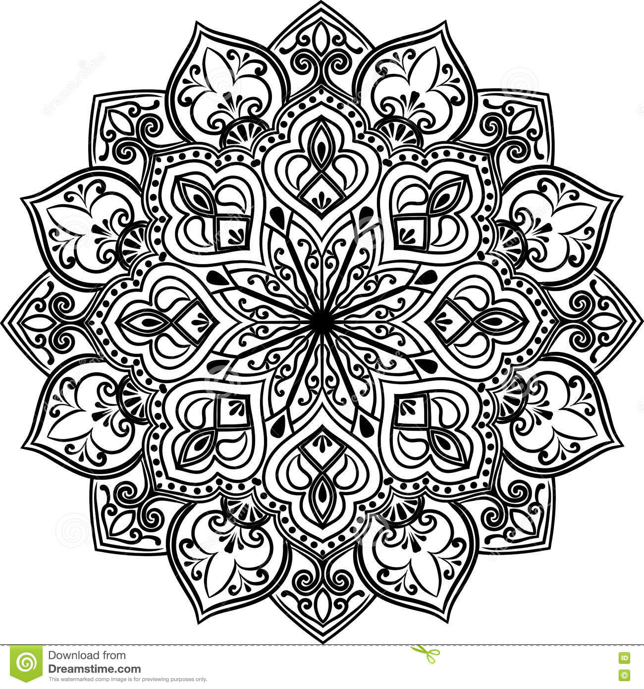 Line Drawing Mandala : The mandala line art stock vector illustration of blue
