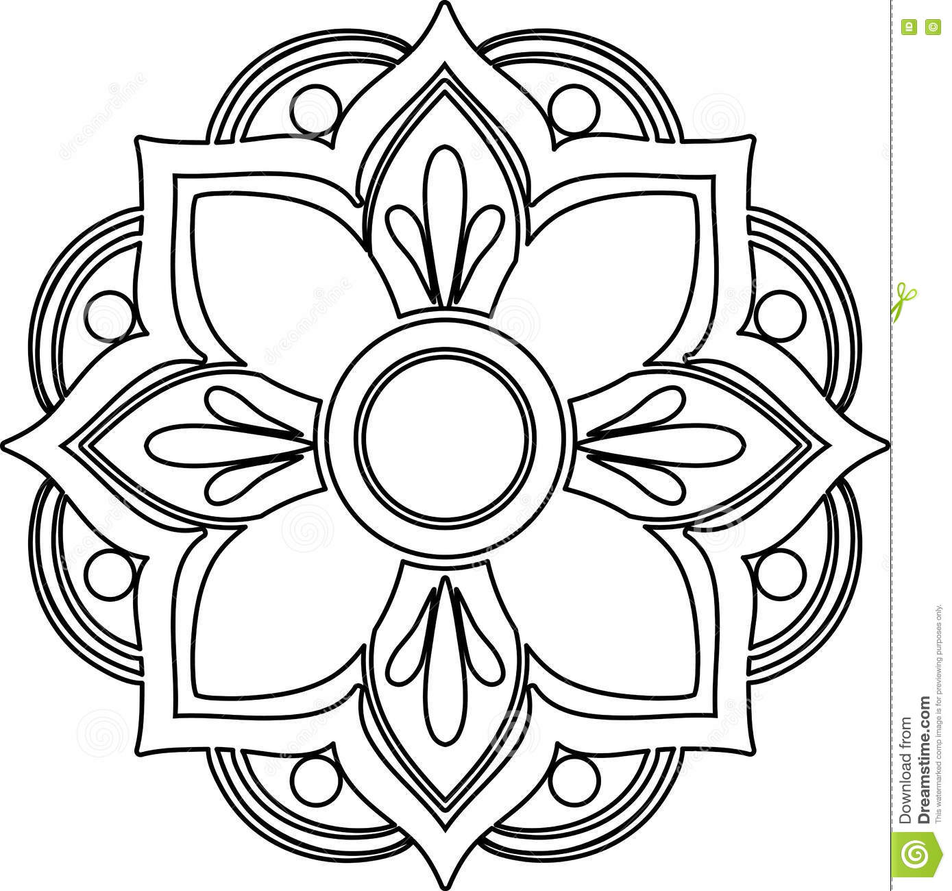 Drawing Vector Lines In Photo : Mandala line art cartoon vector cartoondealer