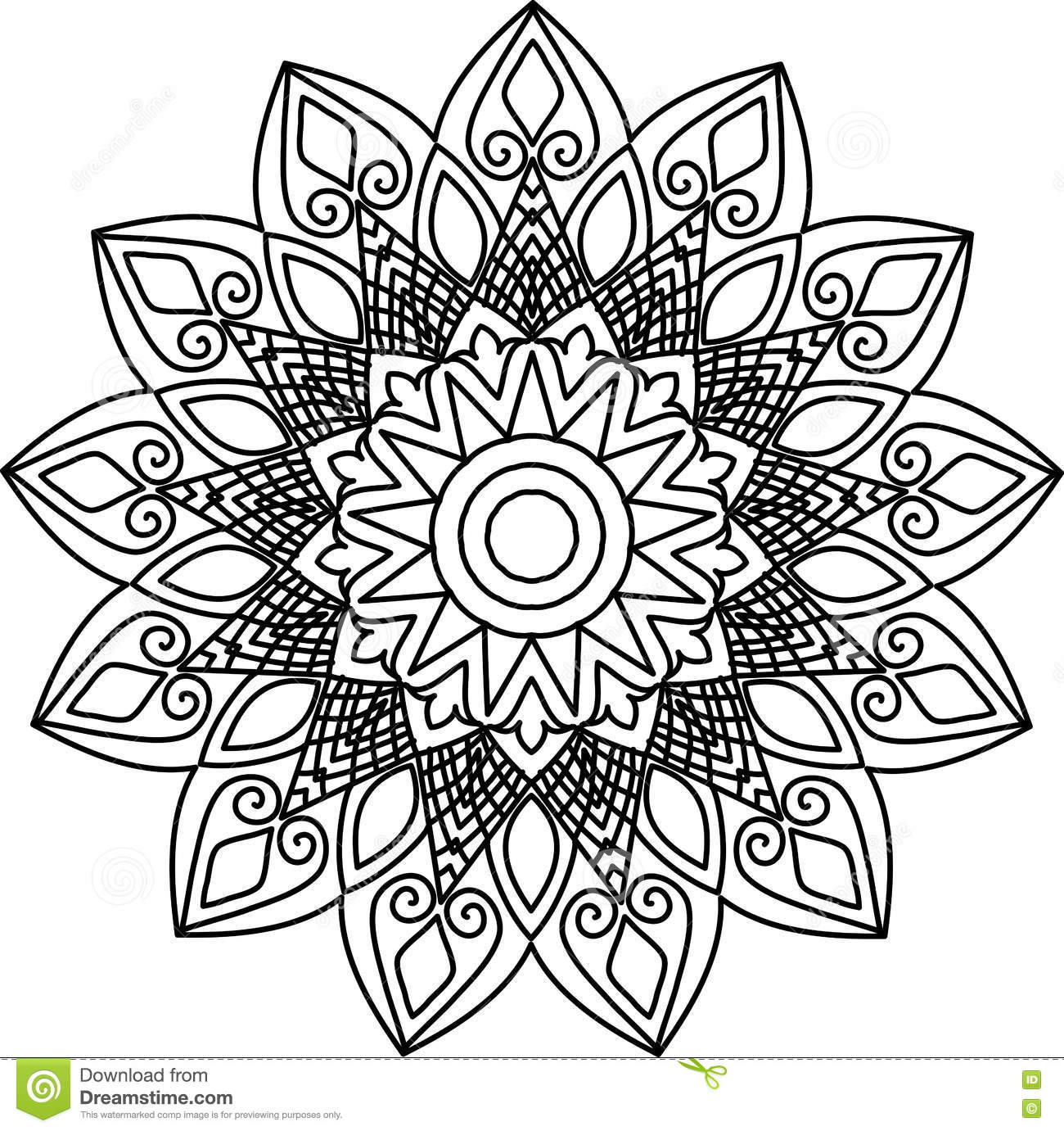 Line Art Design Illustration : The mandala line art stock vector image