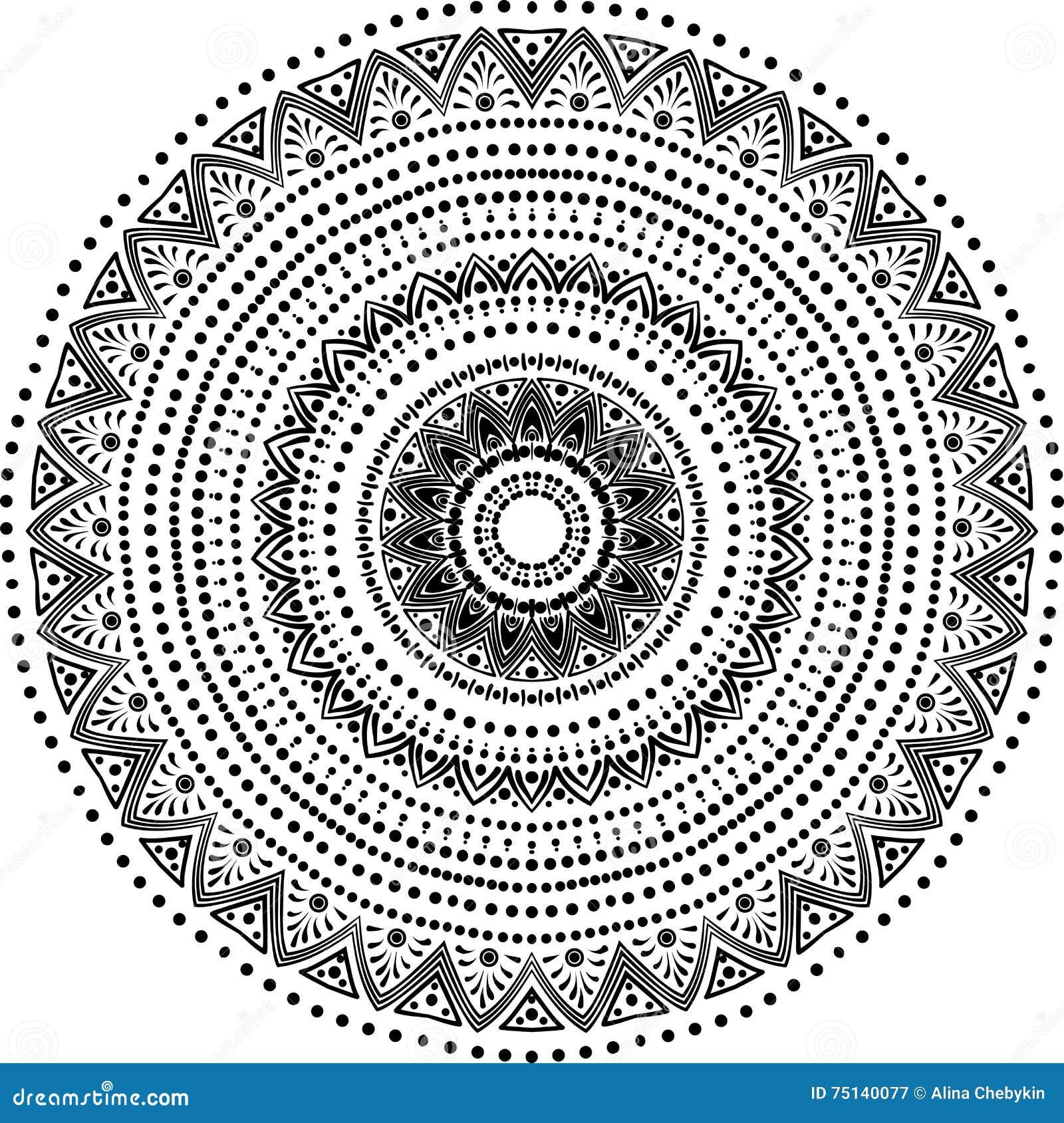Line Art Element : Mandala line art cartoon vector cartoondealer