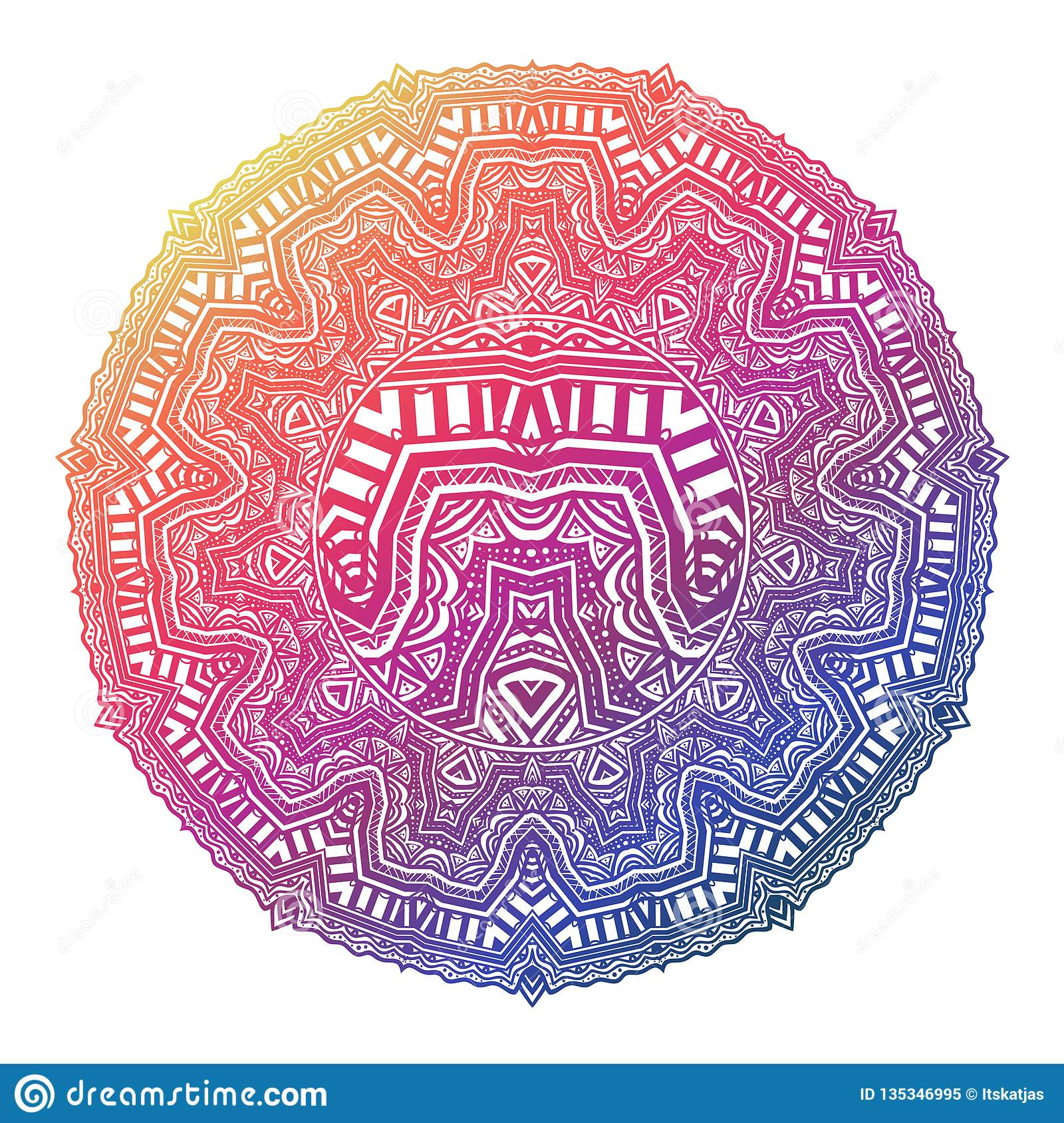 Mandala In Linear African Or Ancient Mexican Mythology ...