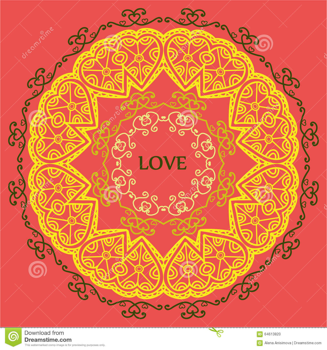Mandala Of Love Relaxation And Meditation Ethnic Patterns Gree
