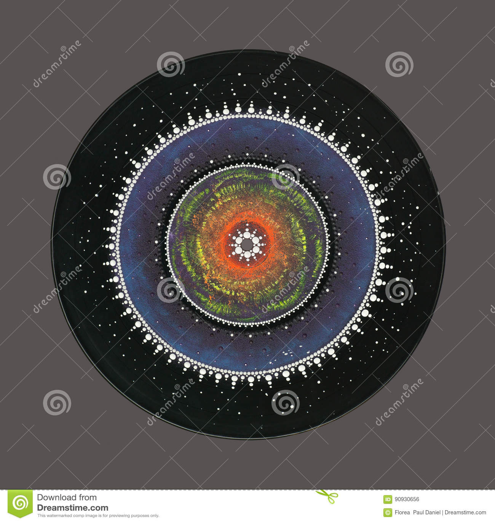Mandala mágica colorida