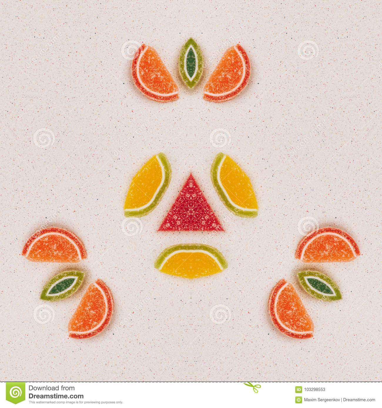 Fruit Kaleidoscope Stock Image Of Element