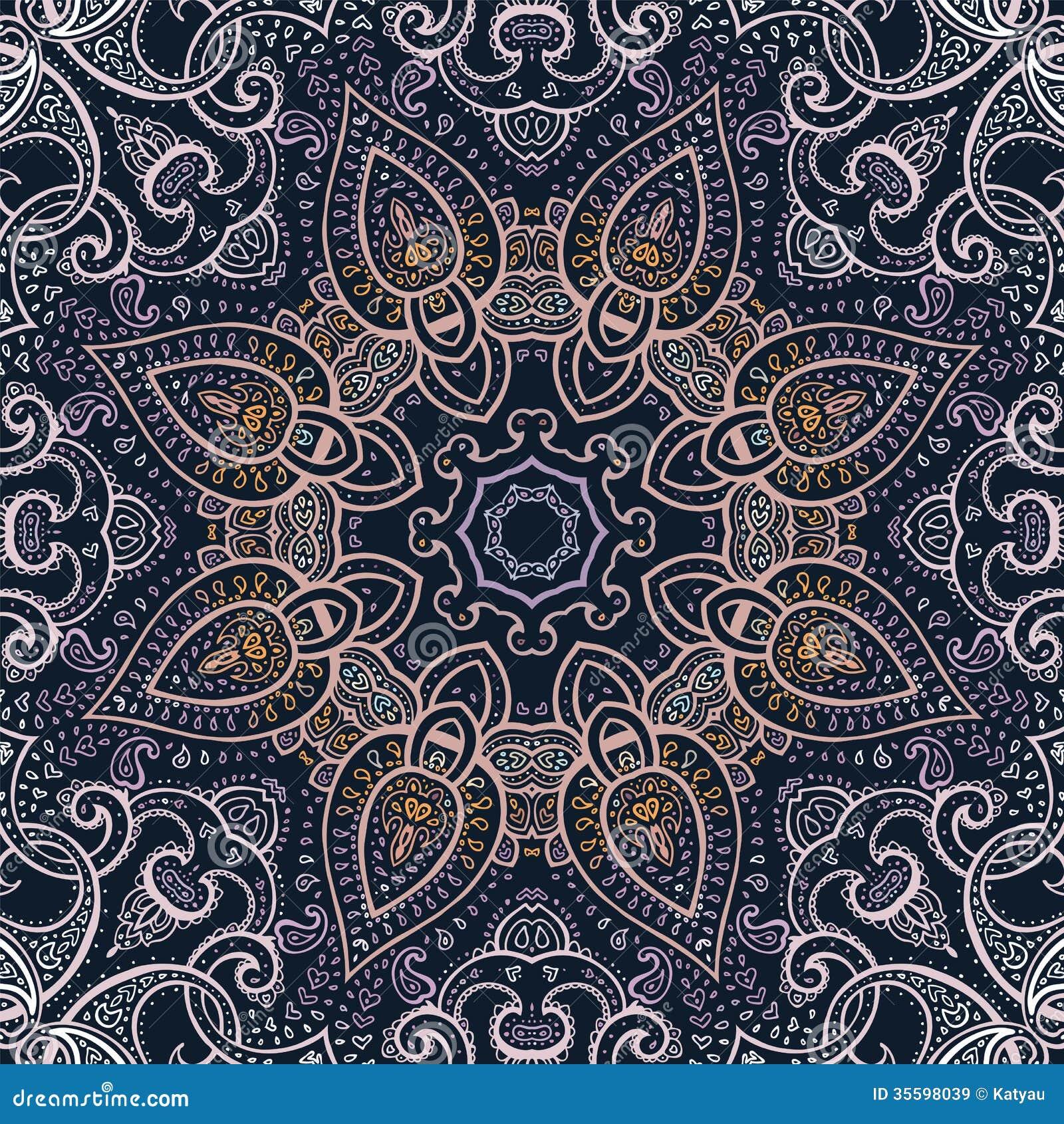 mandala modello decorativo indiano illustrazione di