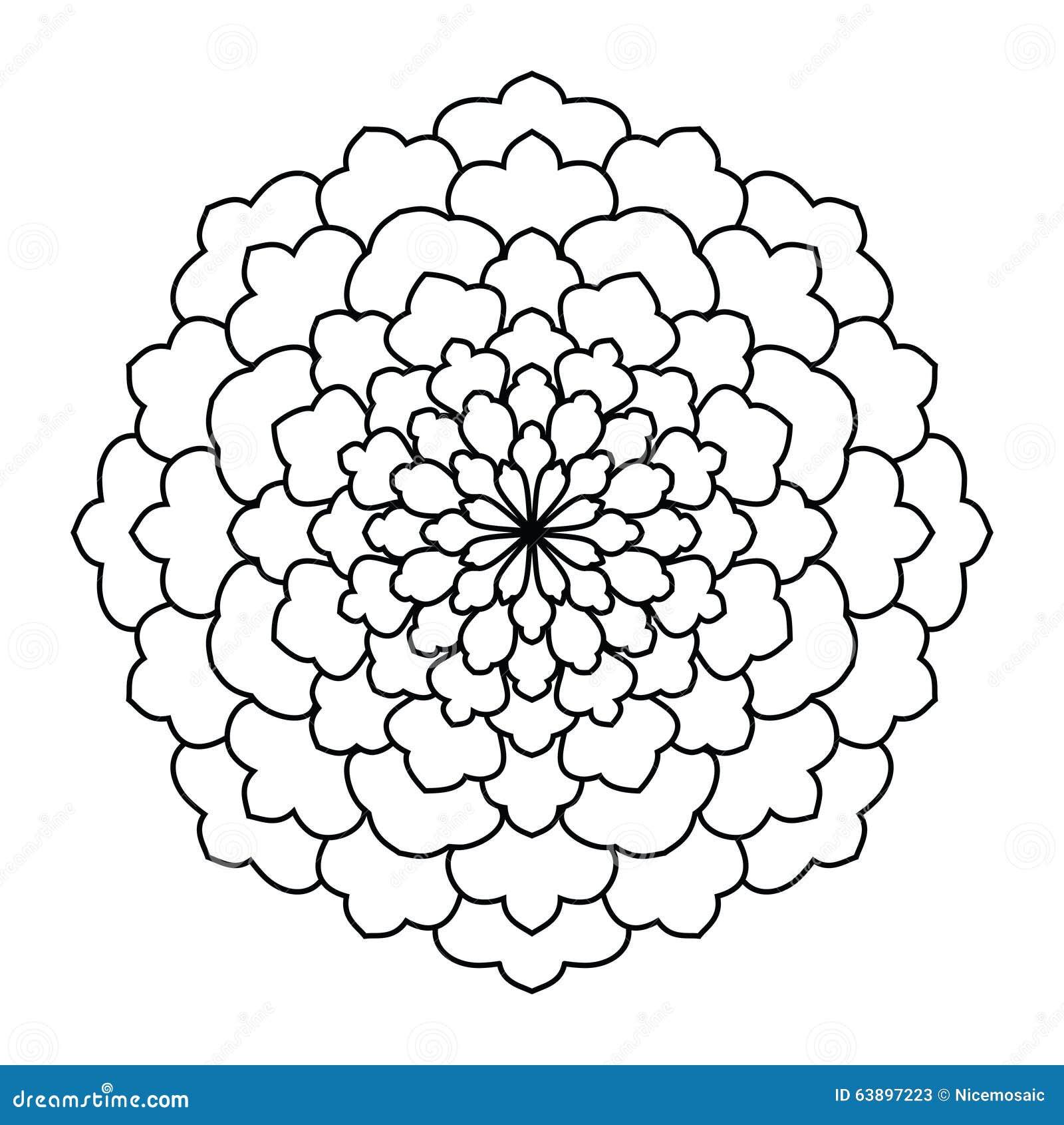 Mandala Modelo Redondo Del Ornamento Del Vintage Islámico, árabe ...