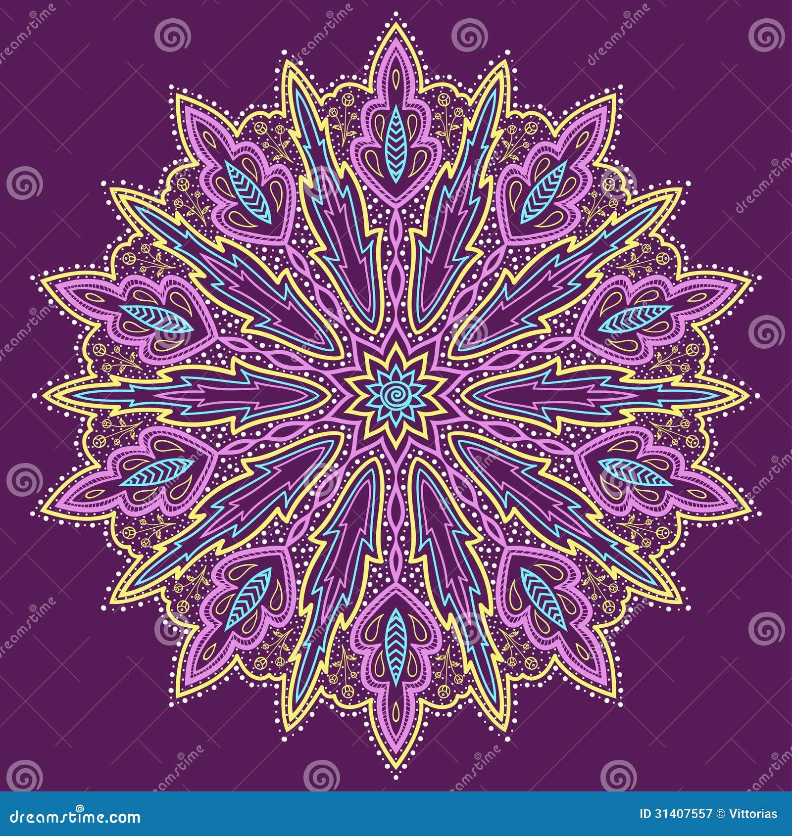 mandala mooie hand drawn bloem violette achtergrond 31407557 - Mandala Behang